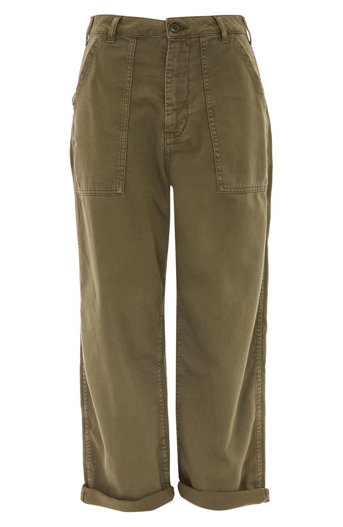 Alternate Image 4  - Topshop Wide Leg Utility Trousers