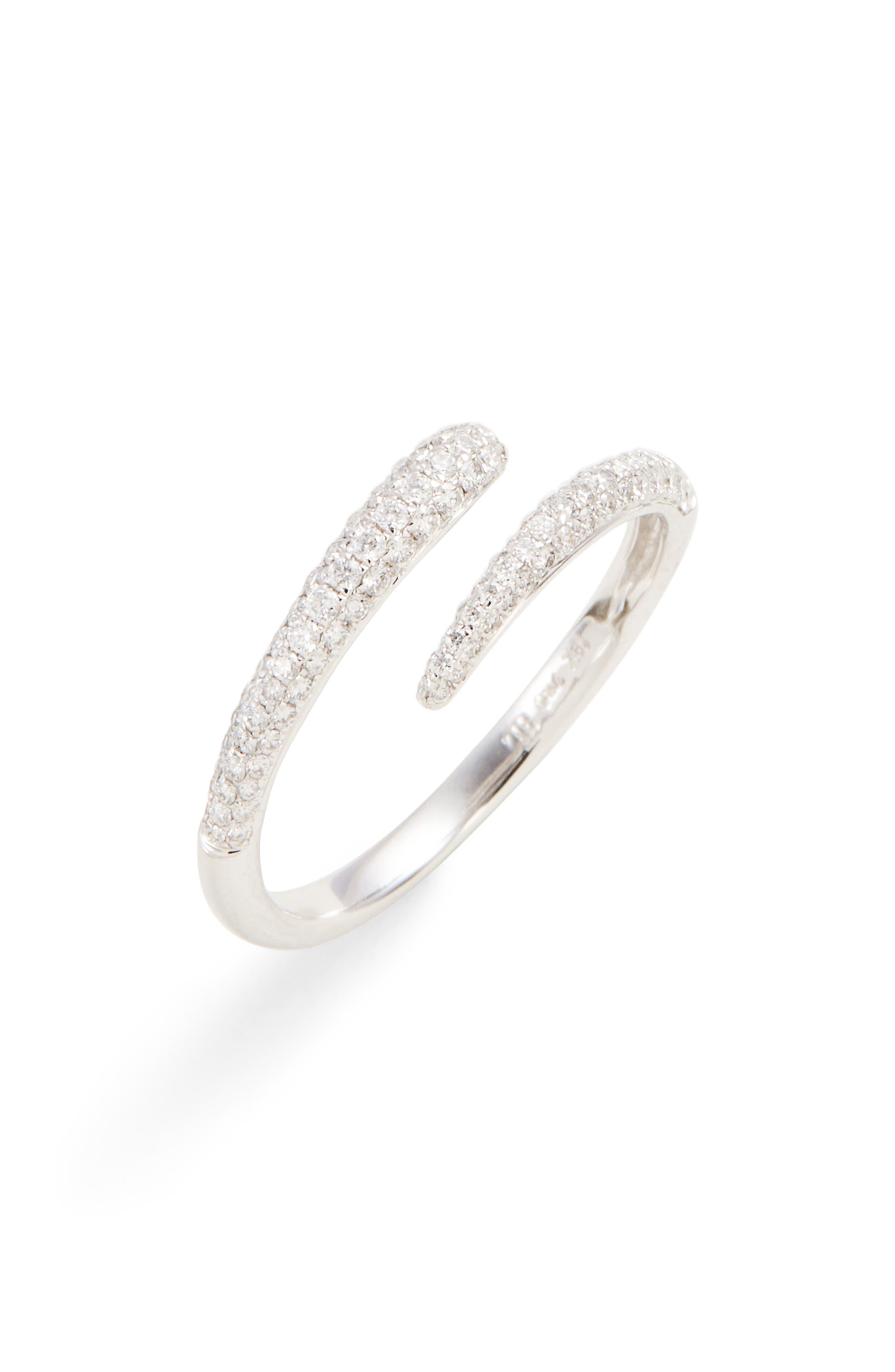 Micro Pavé Diamond Openwork Ring,                         Main,                         color, White Gold