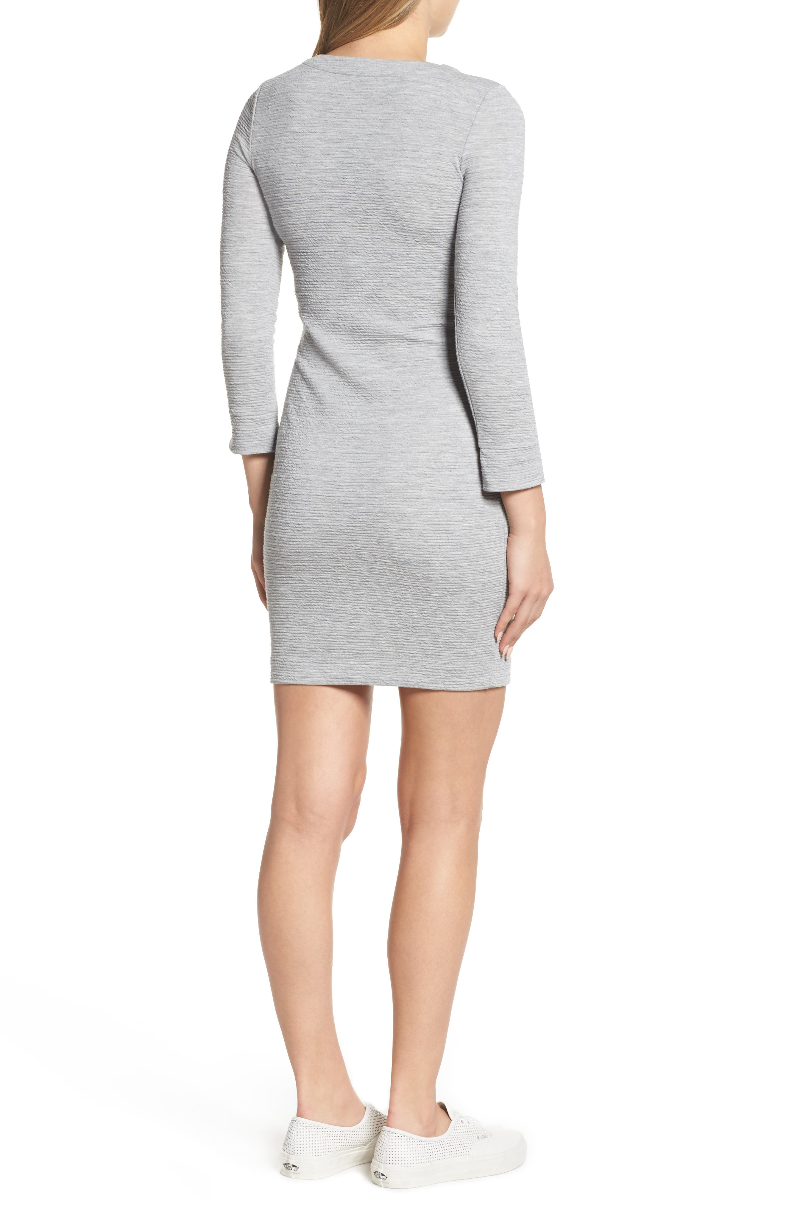 Sudan Marl Sheath Dress,                             Alternate thumbnail 2, color,                             Mid Grey Mel