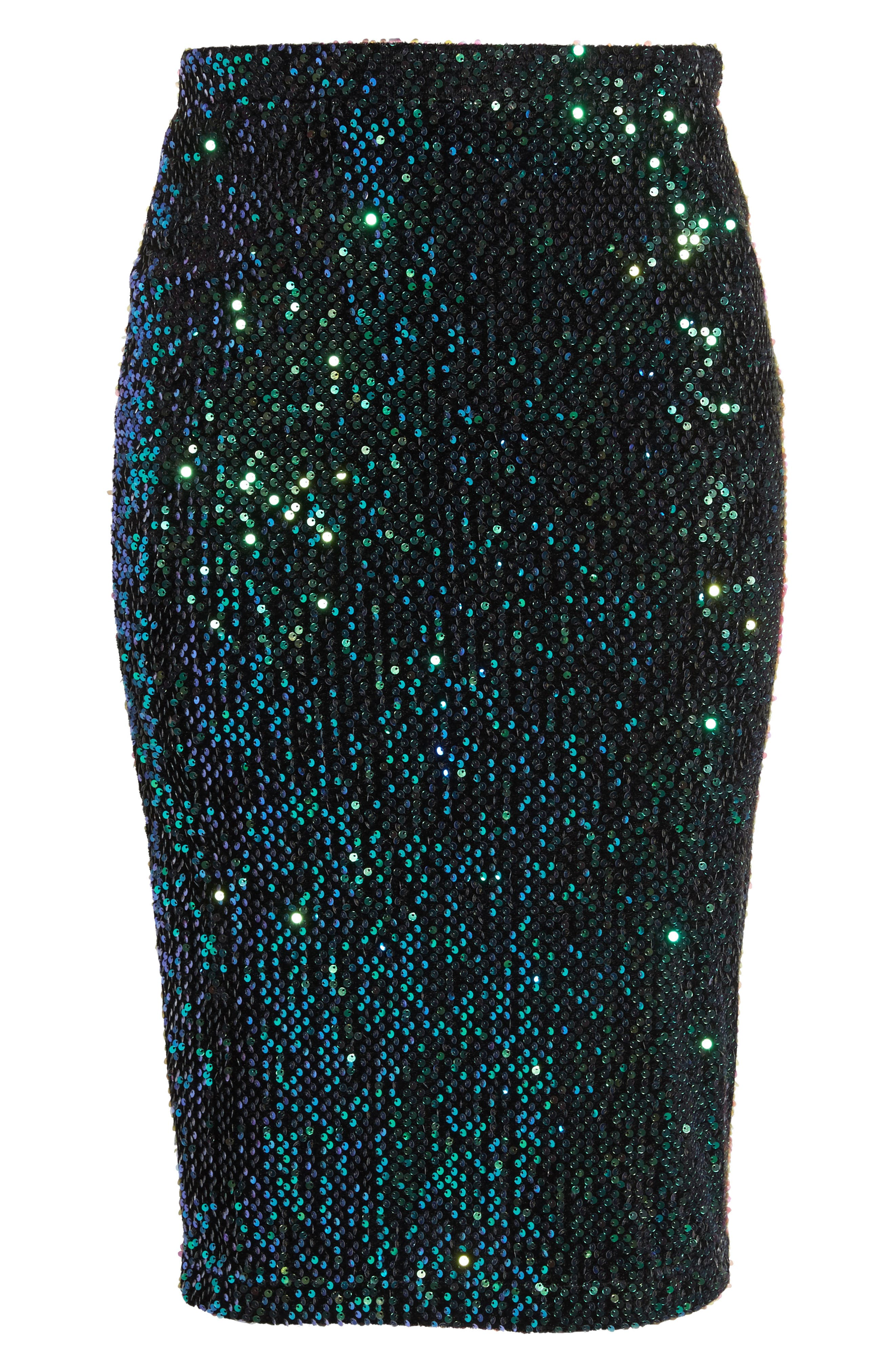 Alternate Image 6  - LOST INK Sequin Pencil Skirt (Plus Size)