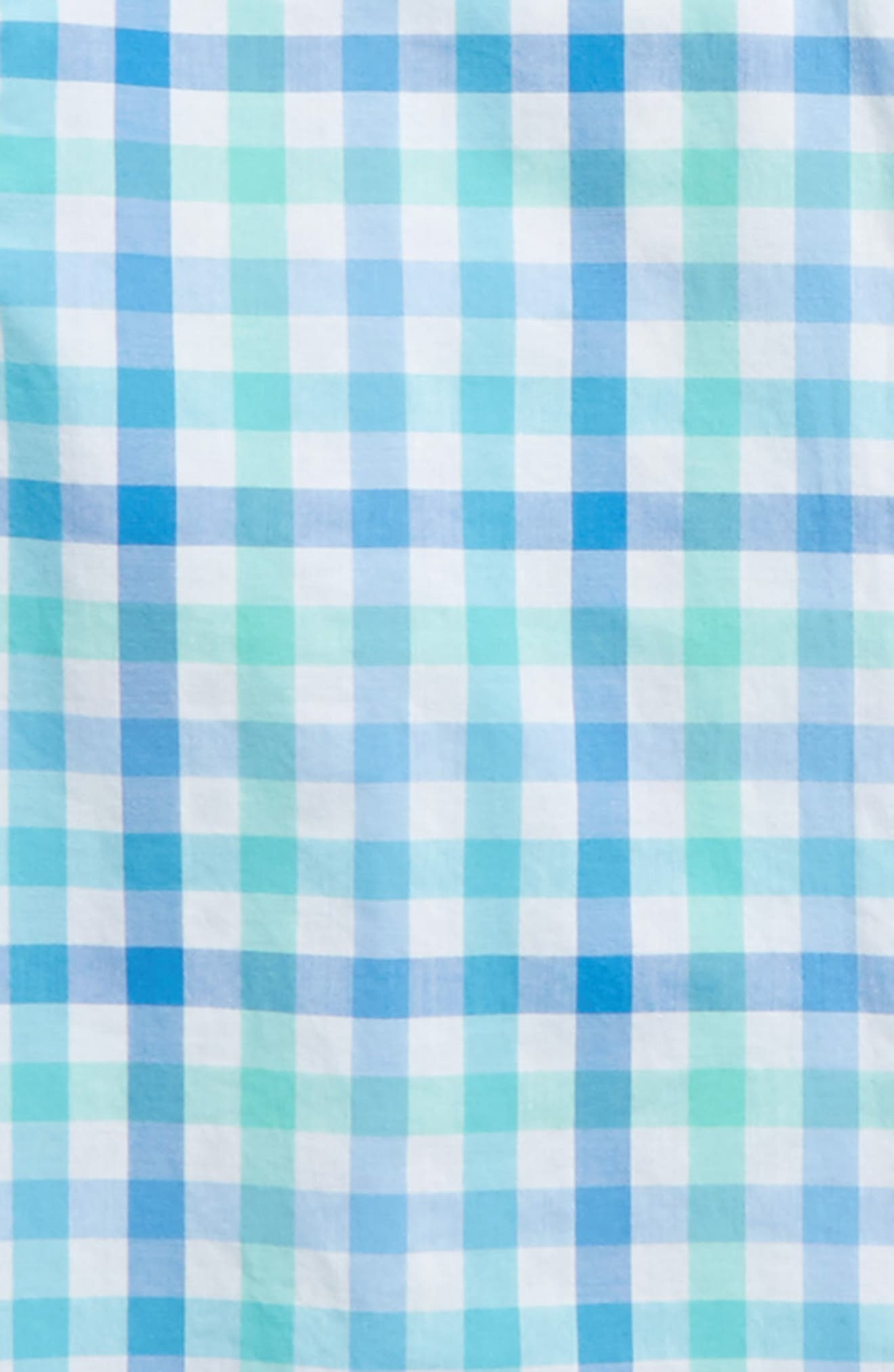 Eagle's Nest Gingham Whale Shirt,                             Alternate thumbnail 2, color,                             Turqs