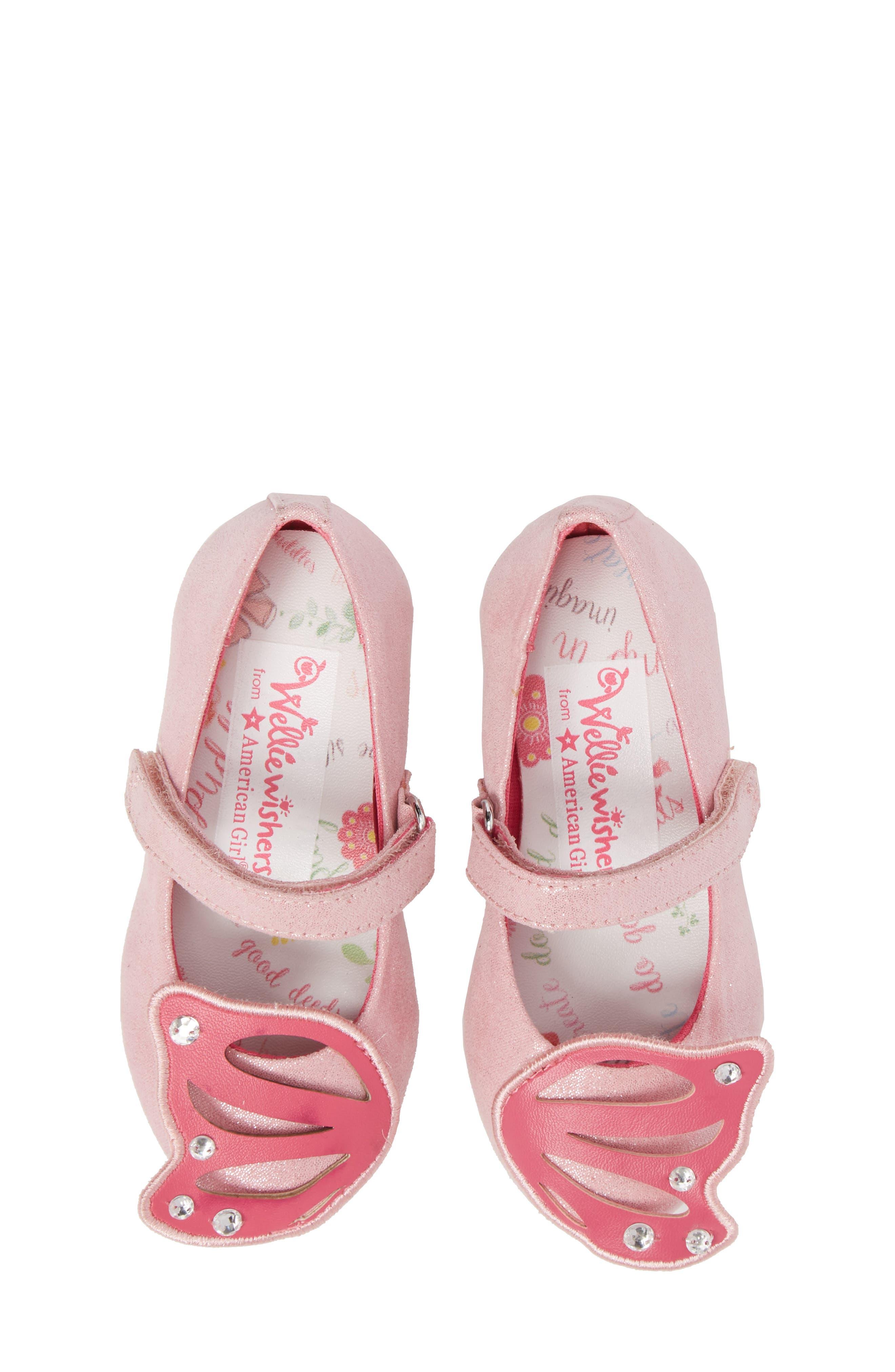 Flutter Wings Embellished Ballet Flat,                             Alternate thumbnail 5, color,                             Light Pink