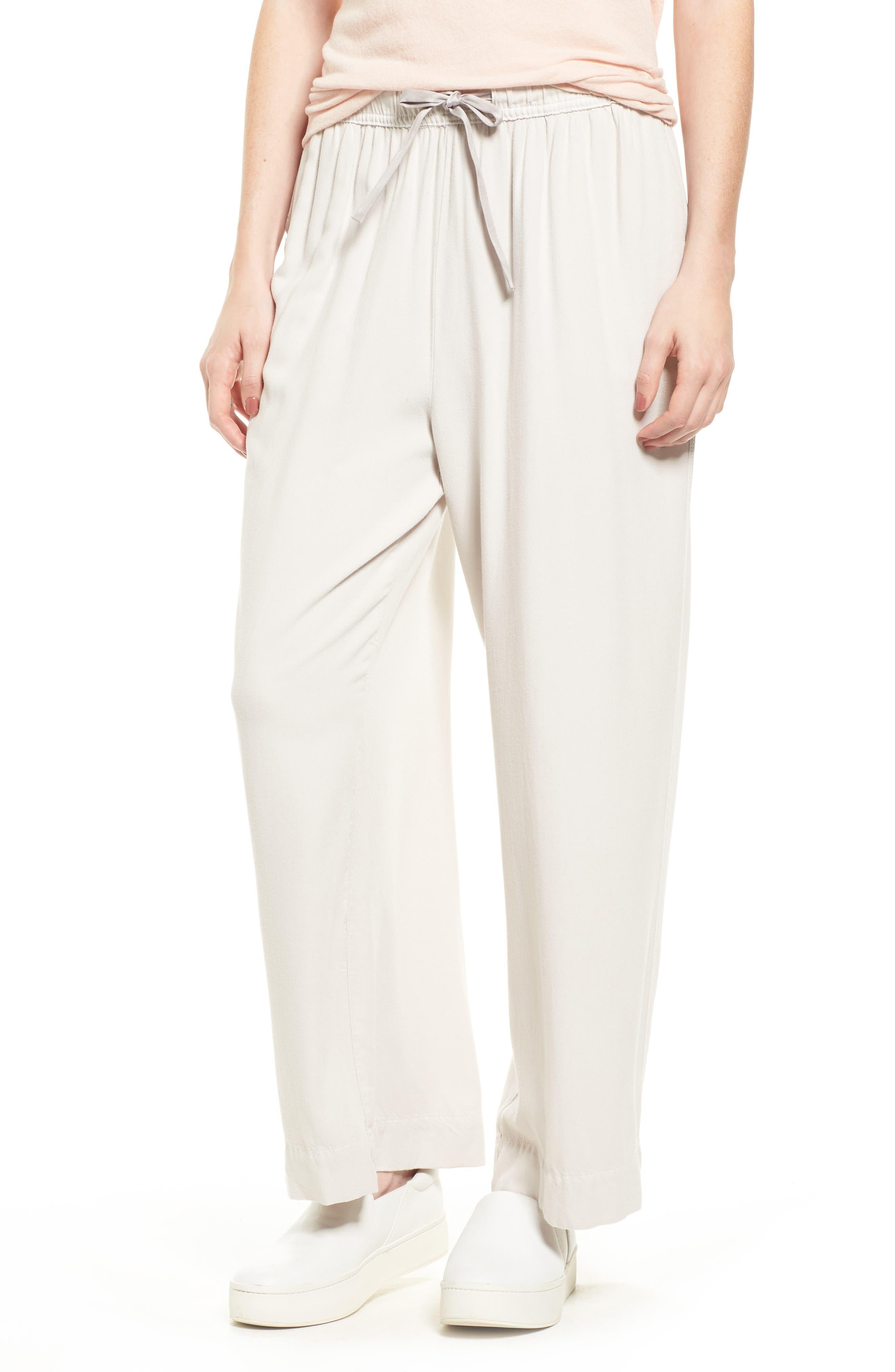 Wide Leg Pants,                         Main,                         color, Talc