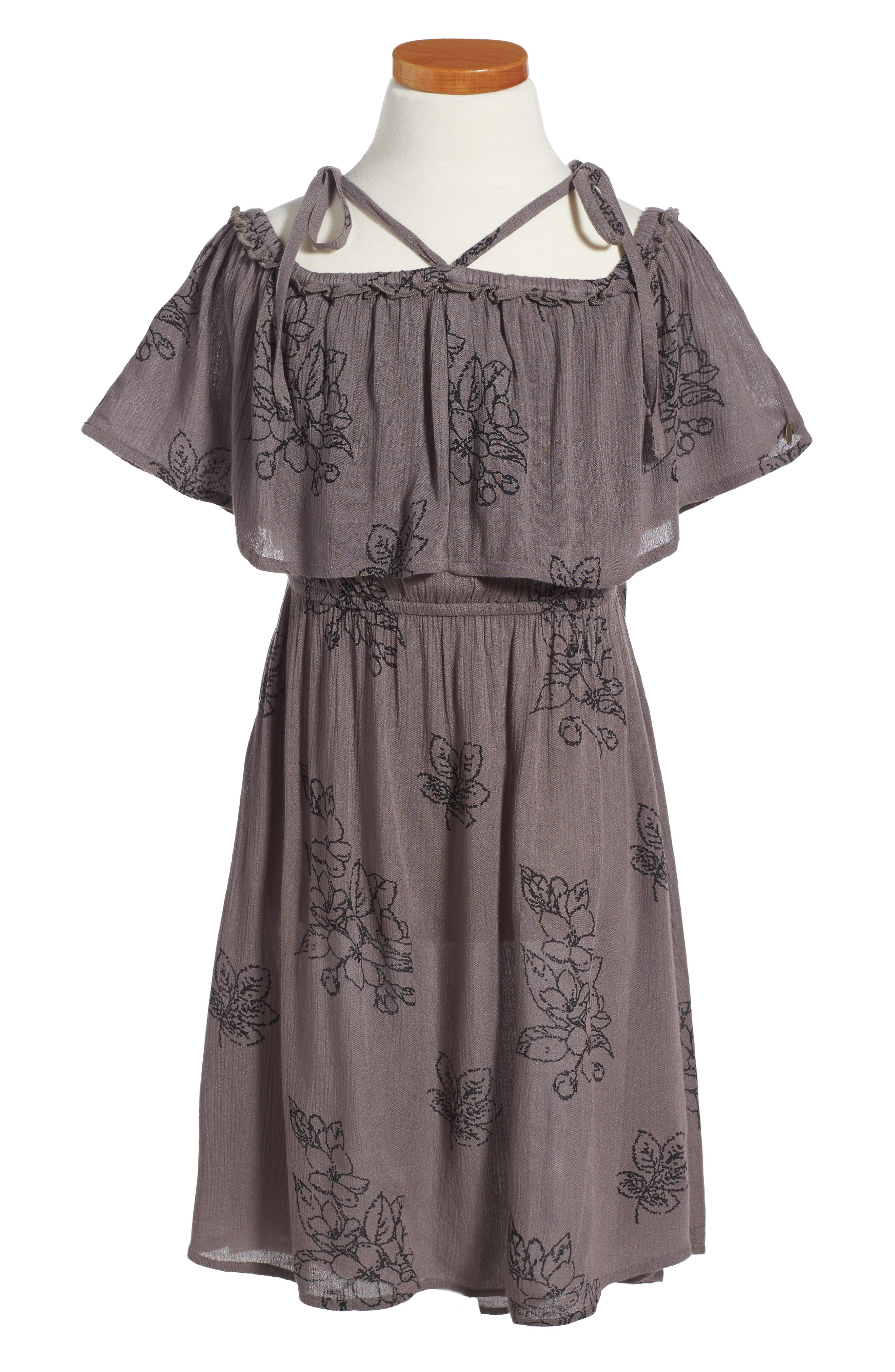 Starla Woven Dress,                         Main,                         color, Zinc
