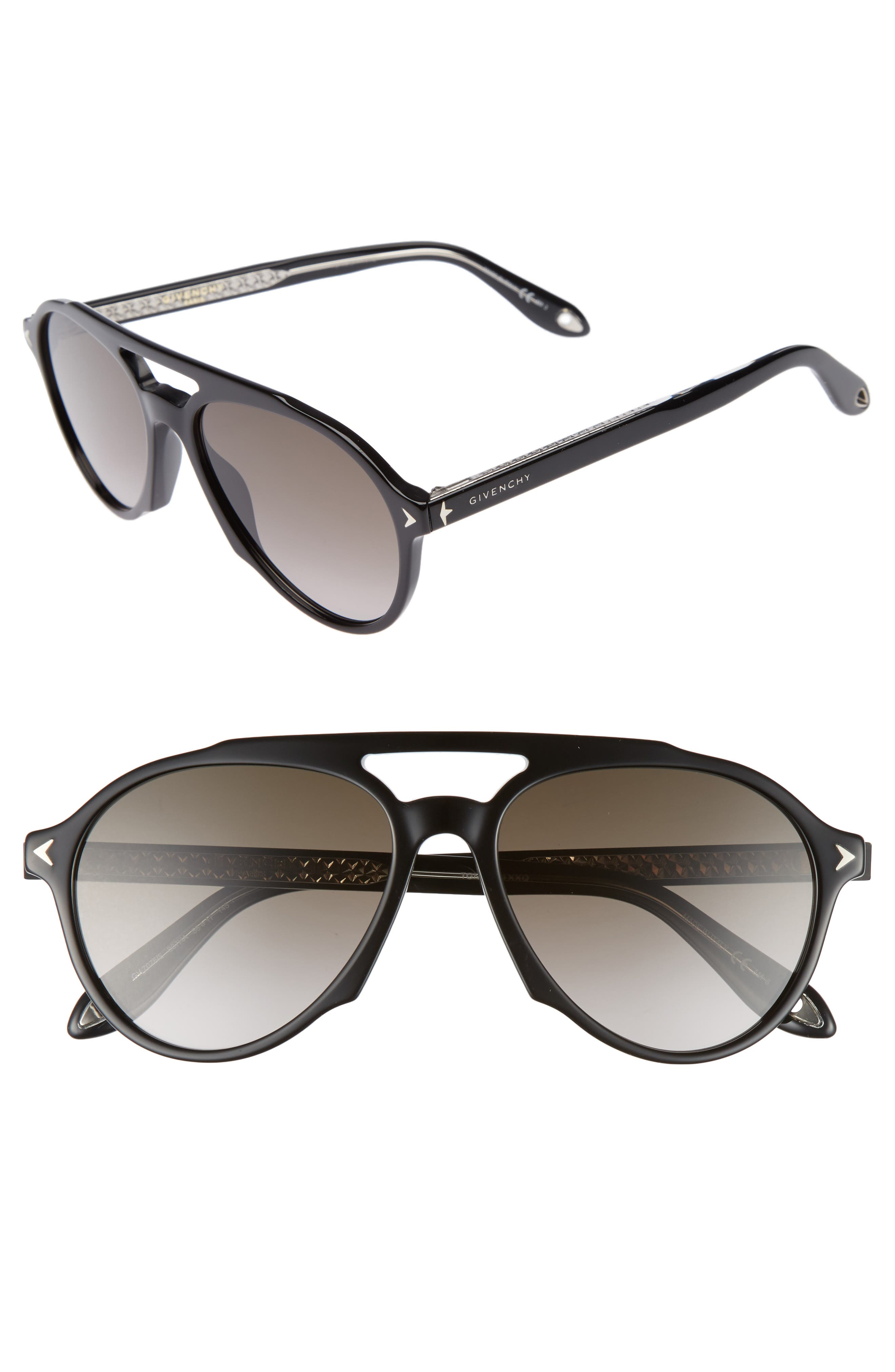Givenchy 56mm Navigator Sunglasses