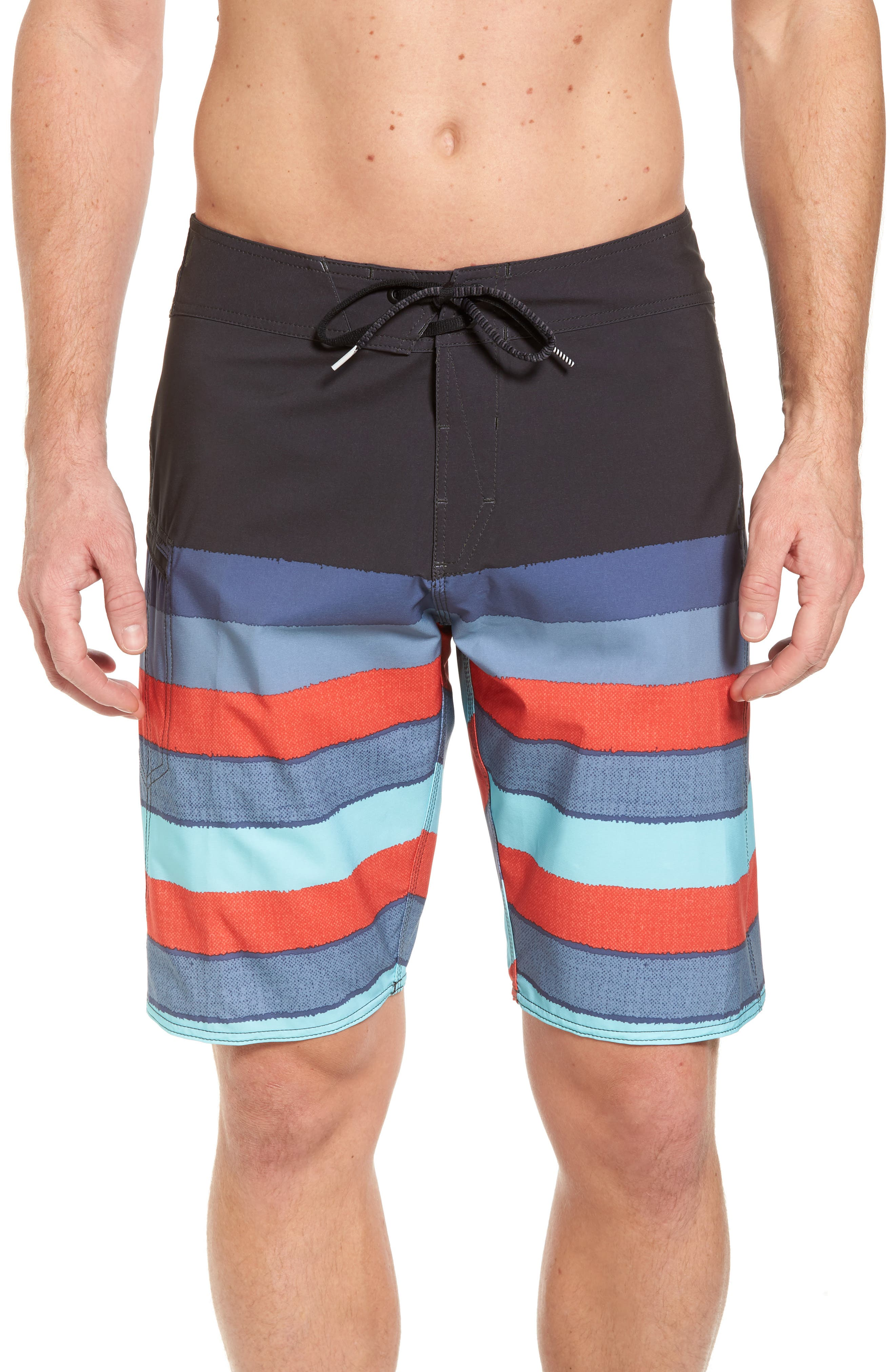 Lido Liney Mod Board Shorts,                         Main,                         color, Blue