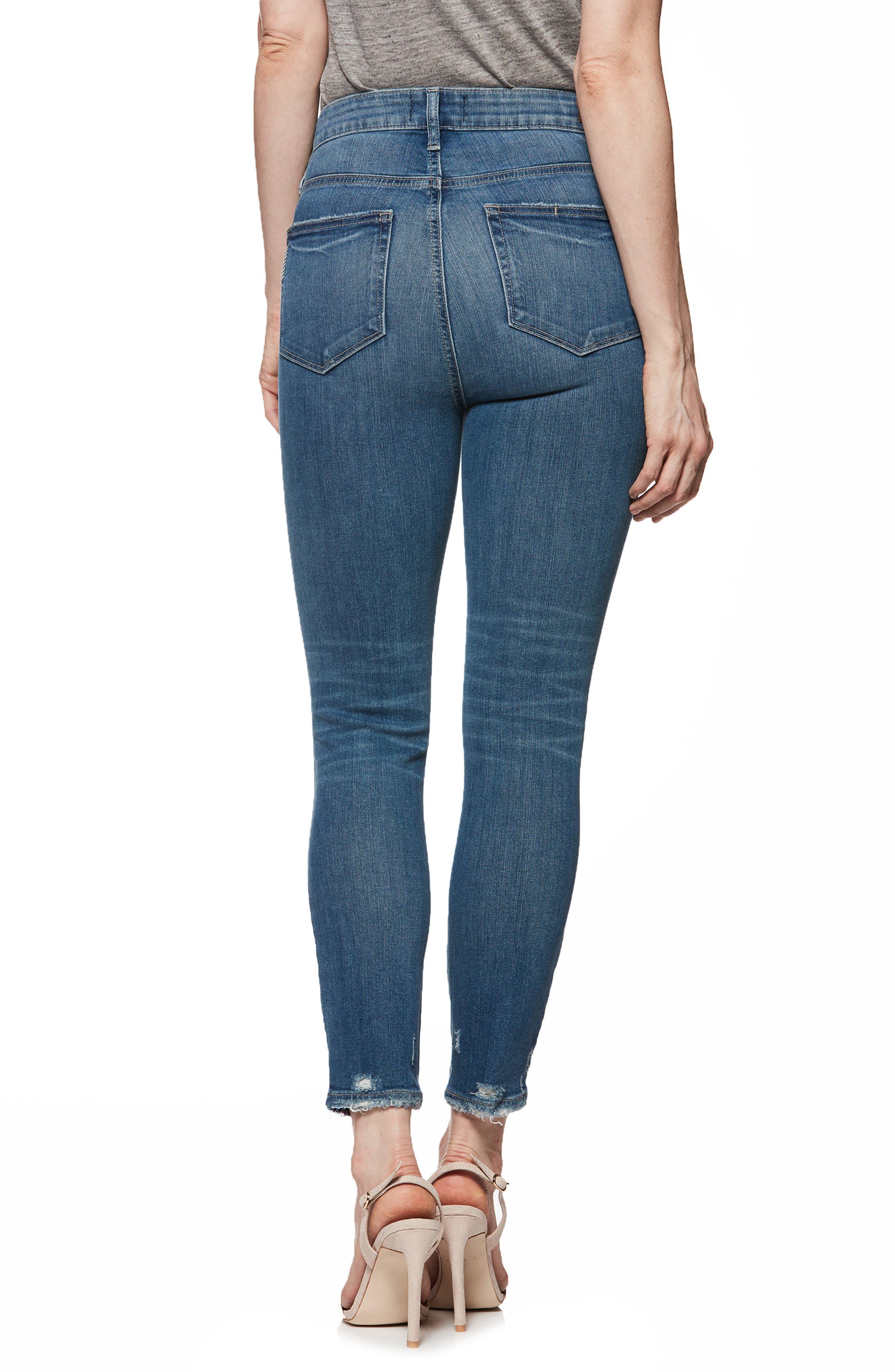 Transcend Vintage - Margot High Waist Crop Skinny Jeans,                             Alternate thumbnail 2, color,                             Ashby Destructed