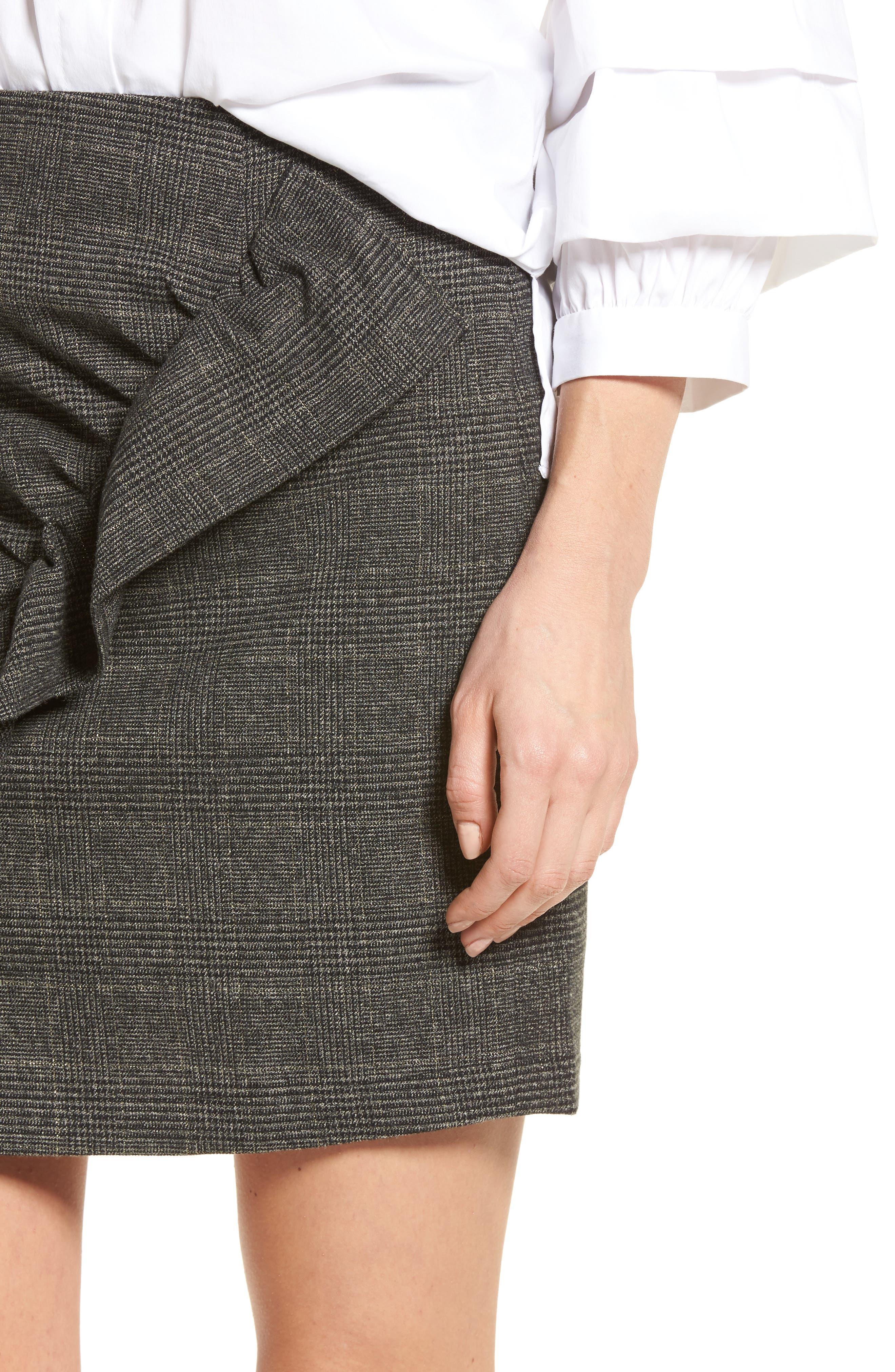 Alternate Image 4  - BP. Glen Plaid Ruched Ruffle Skirt