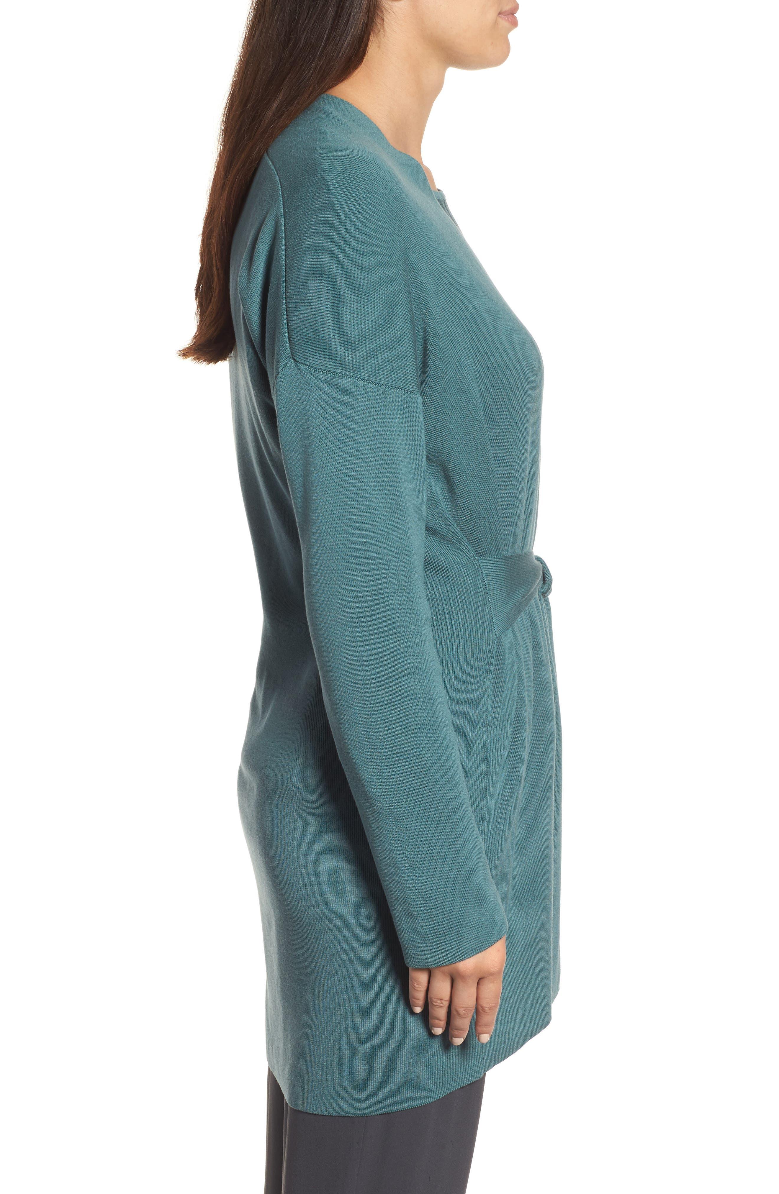 Alternate Image 3  - Eileen Fisher Long Belted Cardigan (Regular & Petite)