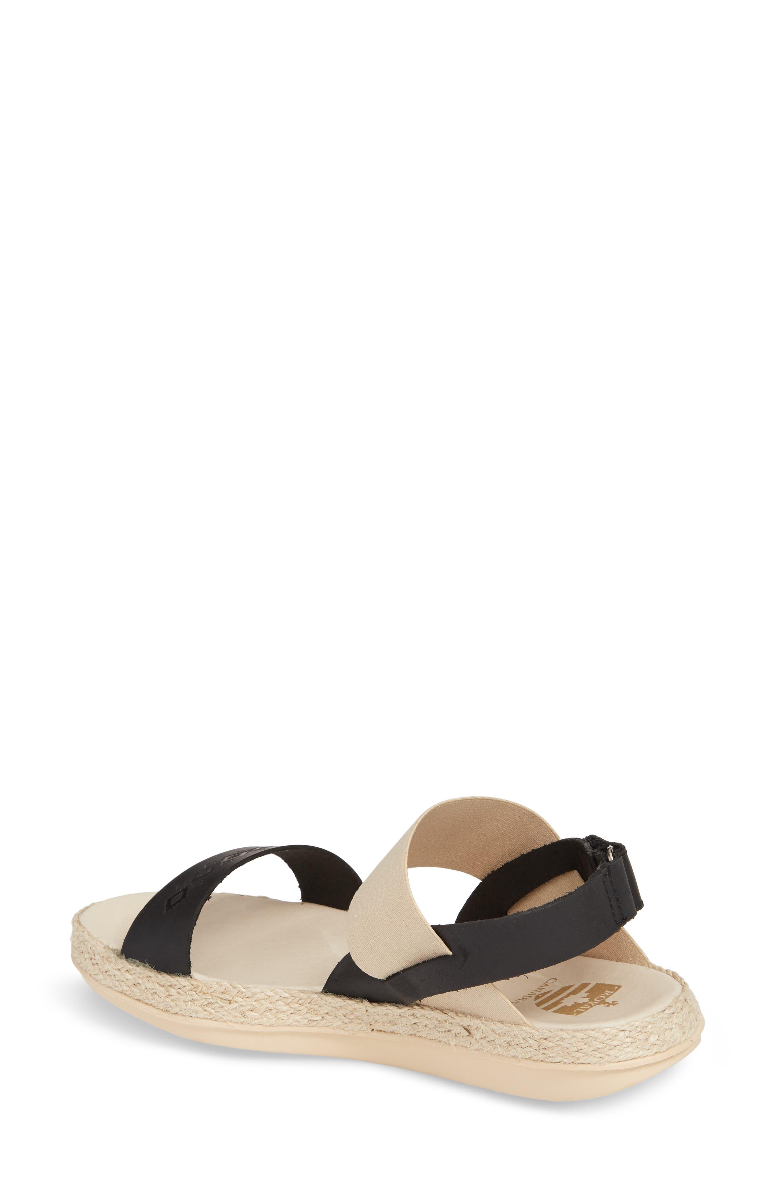 Tobermory Sandal,                             Alternate thumbnail 2, color,                             Black Leather