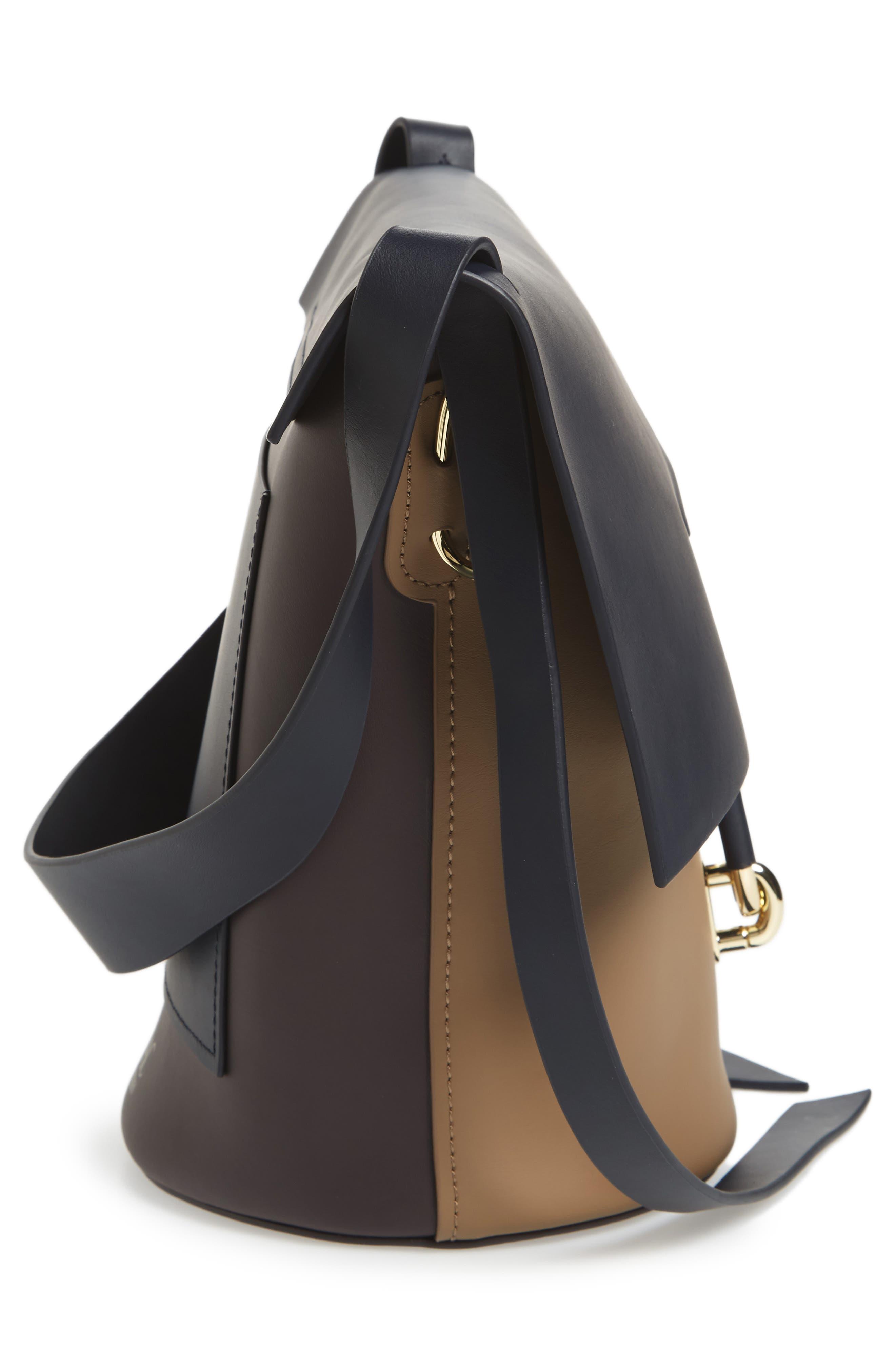 Belay Colorblock Calfskin Leather Bucket Bag,                             Alternate thumbnail 5, color,                             Navy Color Block