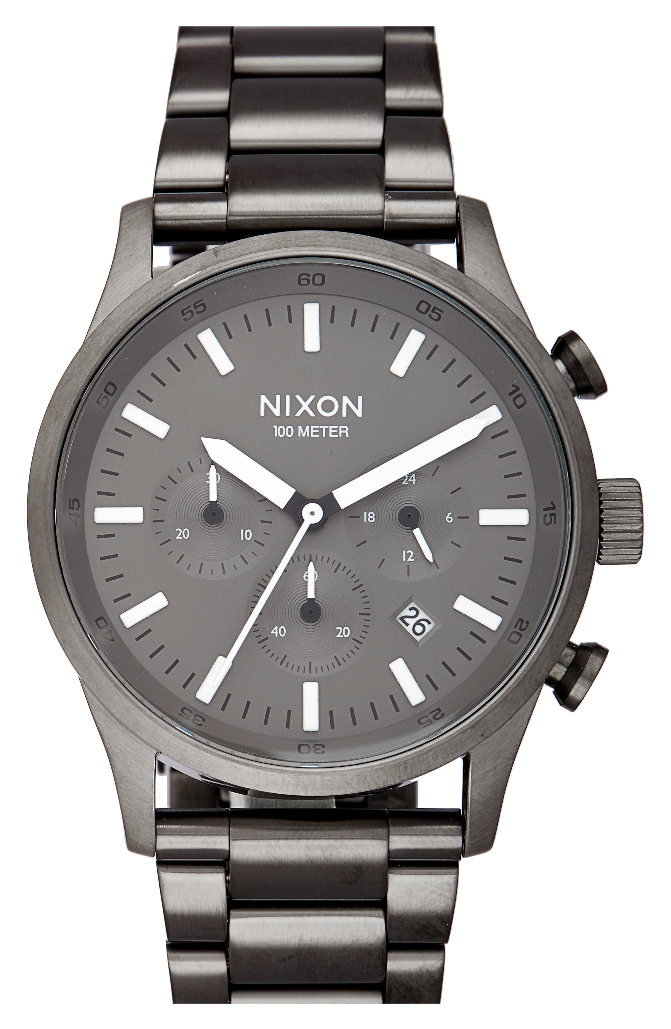 Alternate Image 1 Selected - Nixon Freemont Chronograph Bracelet Watch, 42mm