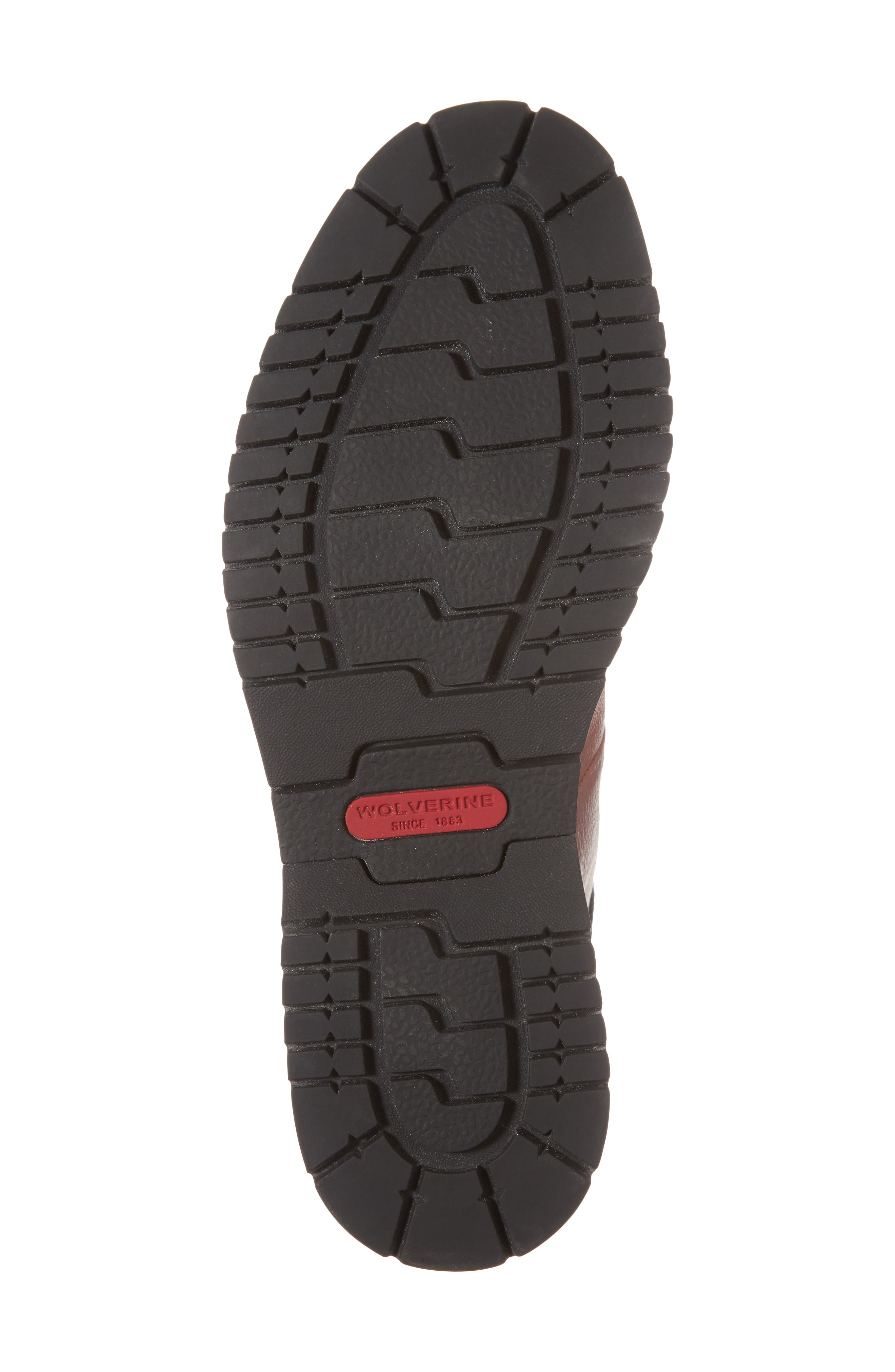 Sidney Waterproof Plain Toe Boot,                             Alternate thumbnail 6, color,                             Brown