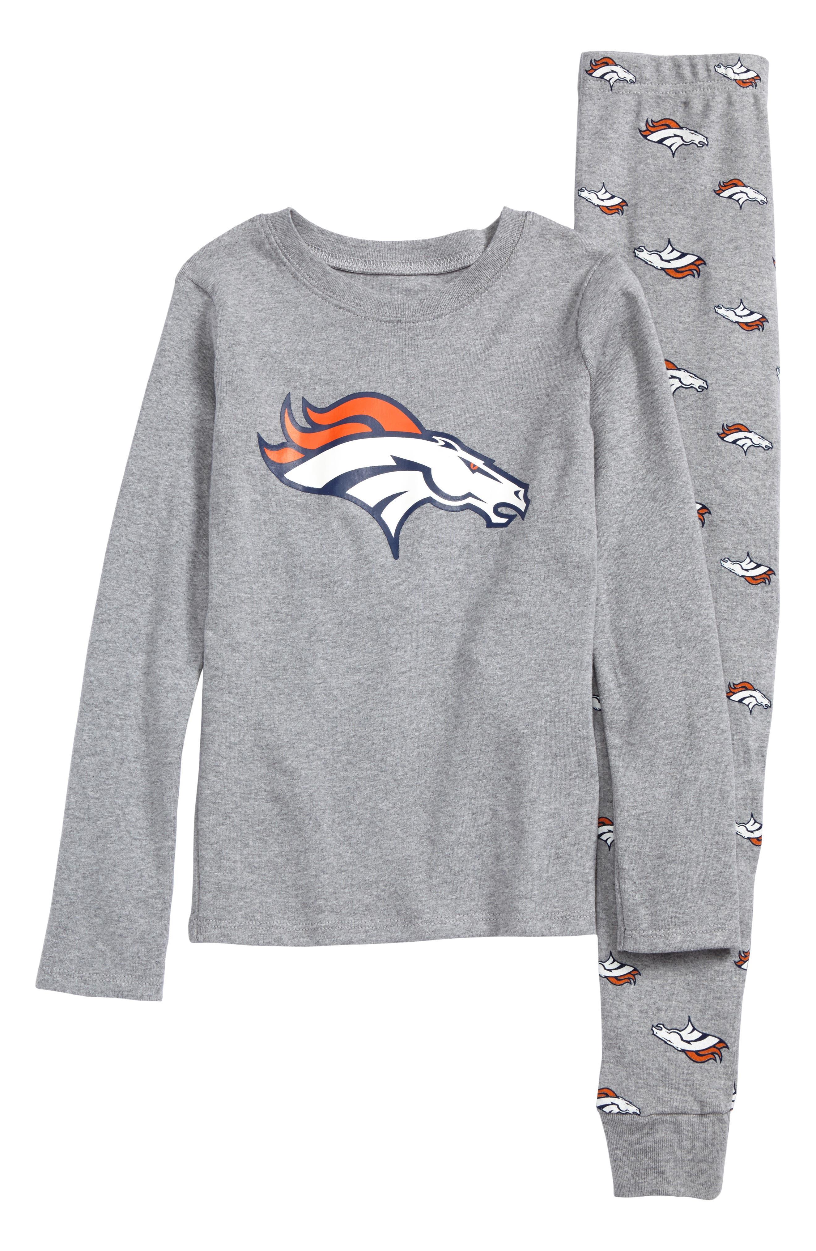 NFL Logo Team Fitted Two-Piece Pajamas,                         Main,                         color, Denver Broncos