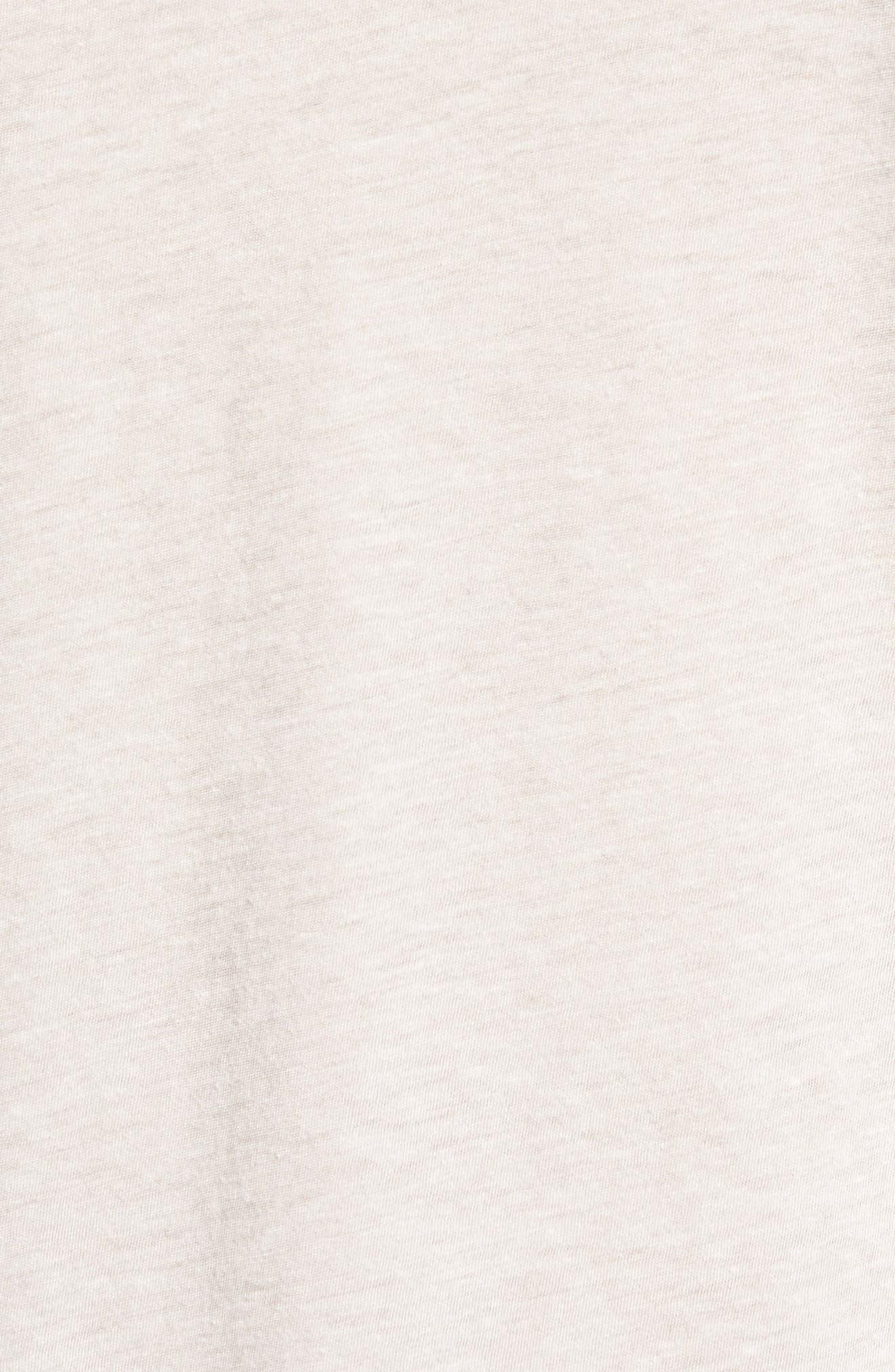 Slubbed Cotton & Linen Pocket T-Shirt,                             Alternate thumbnail 5, color,                             Fossil Melange