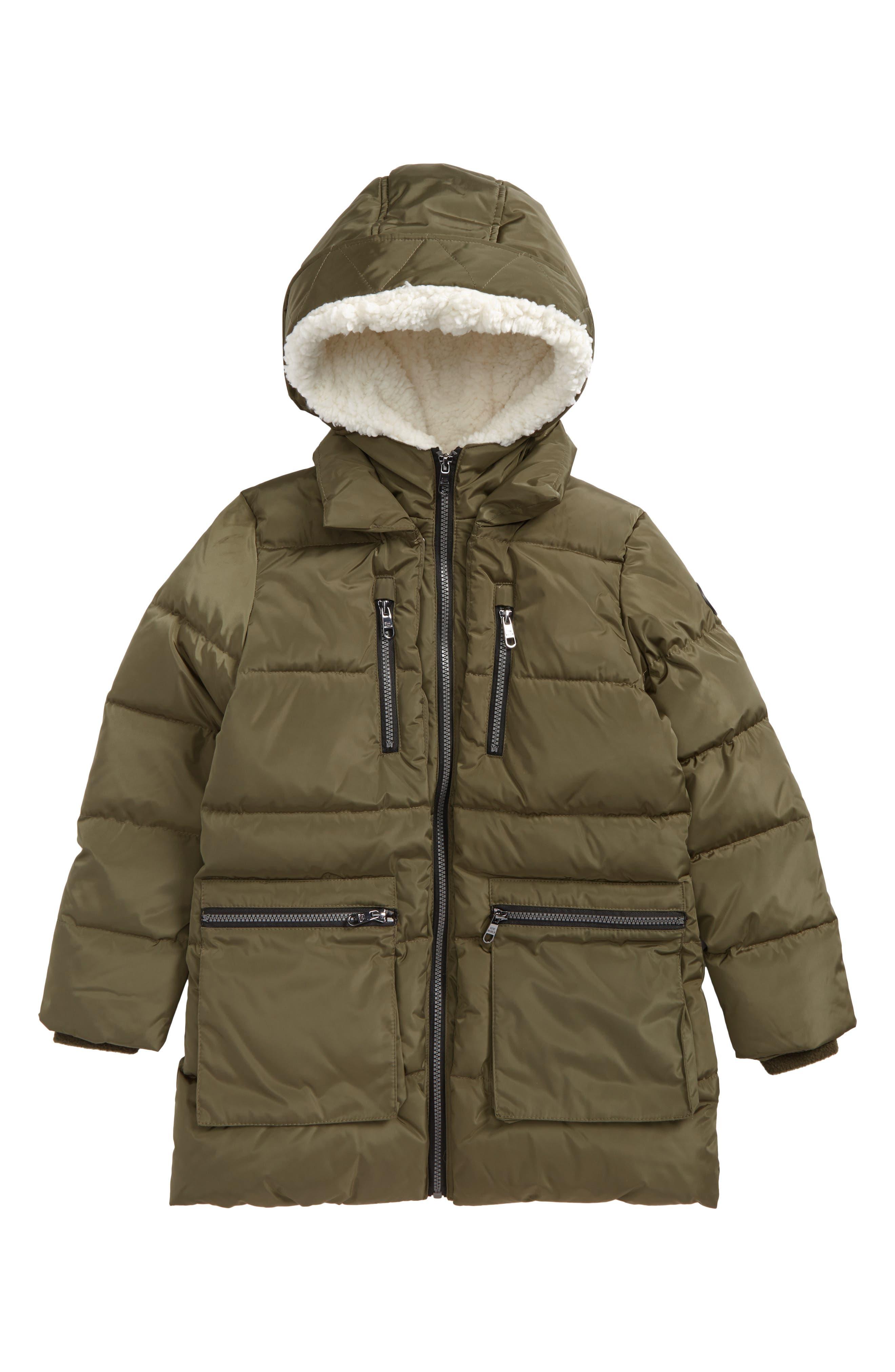 Alternate Image 1 Selected - Steve Madden Hooded Puffer Jacket (Little Girls & Big Girls)