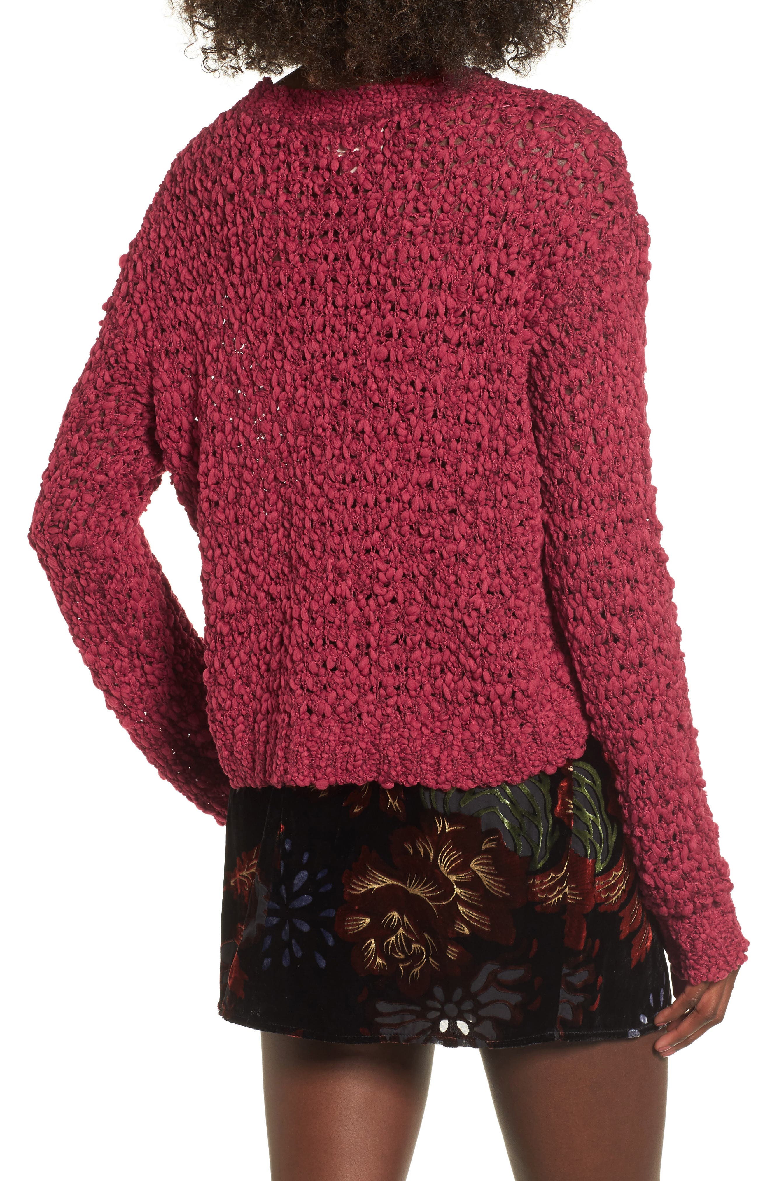 Knit Sweater,                             Alternate thumbnail 2, color,                             Rouge