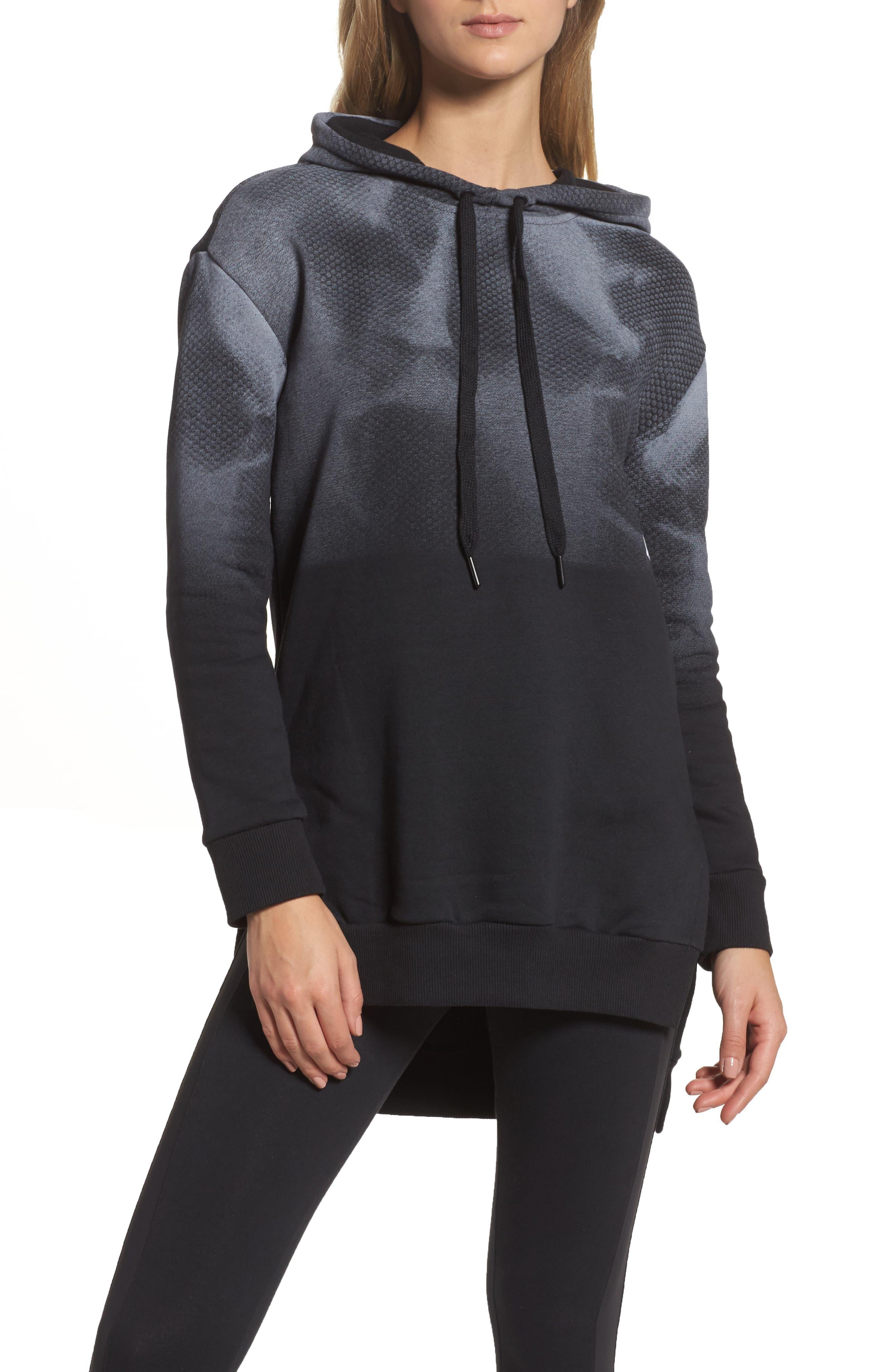 Oversize Hoodie,                         Main,                         color, Black