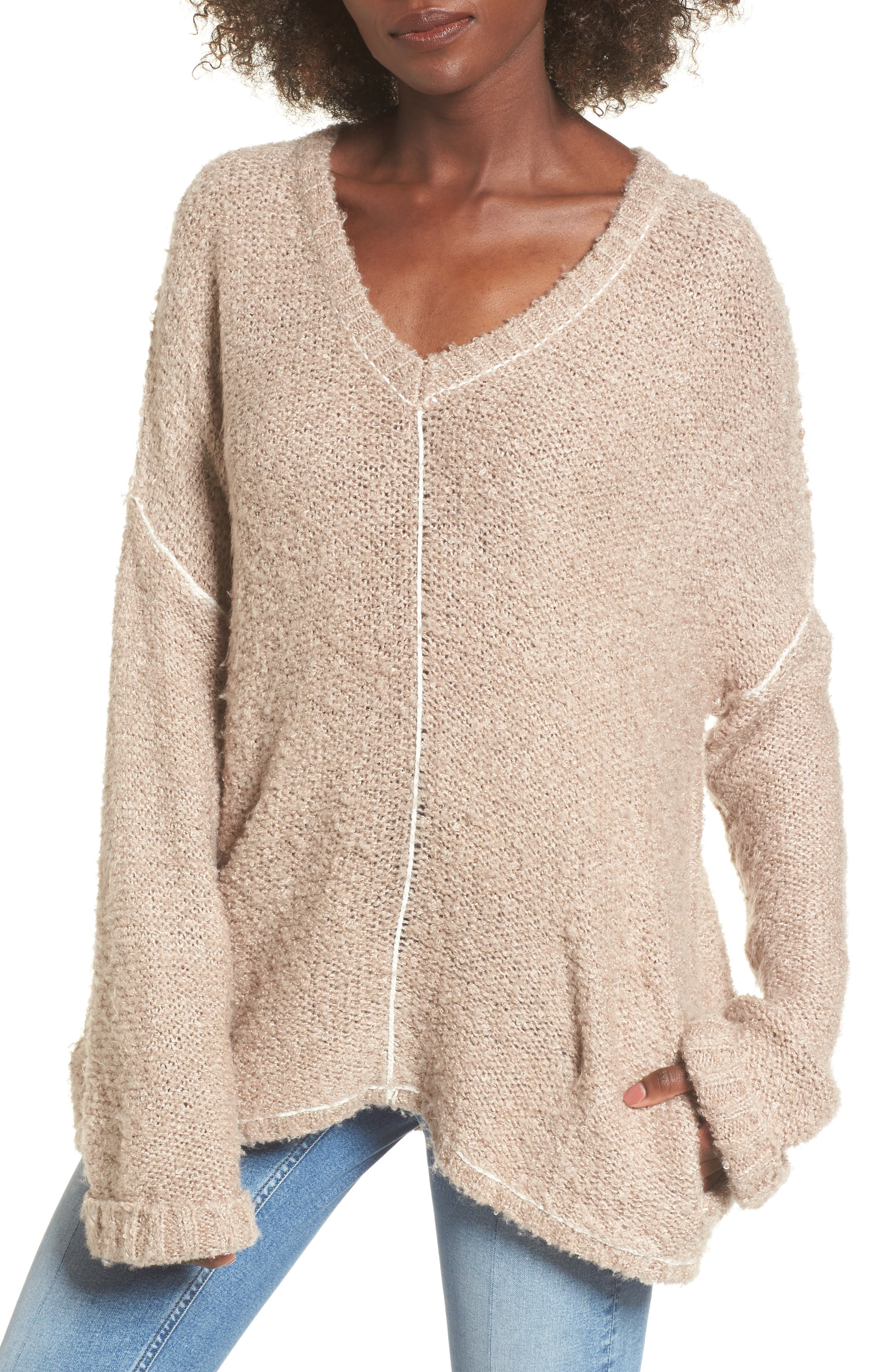 Voyage Knit Sweater,                         Main,                         color, Mocha