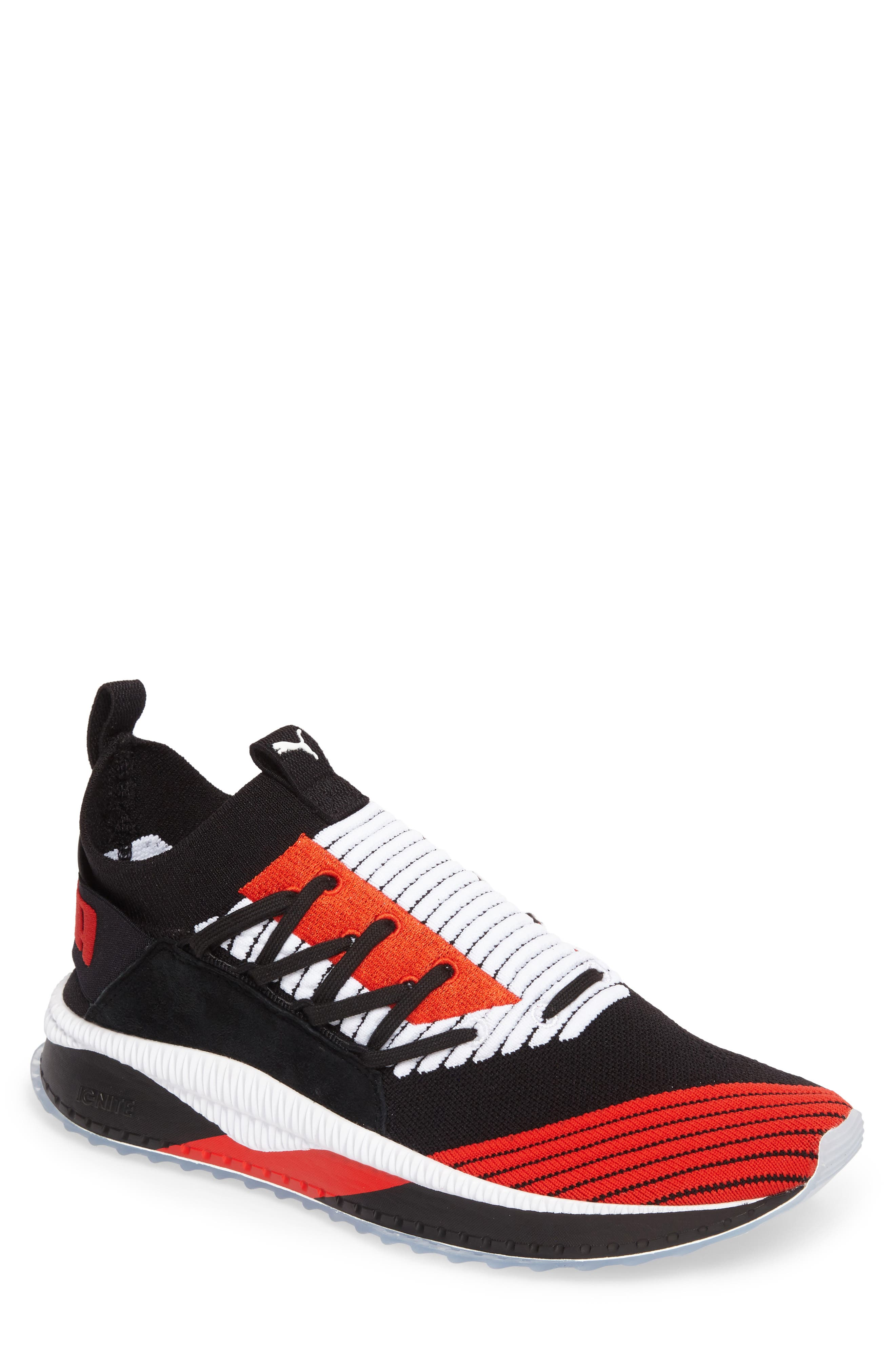 Tsugi Shinsei UT Odyssey Sneaker,                             Main thumbnail 1, color,                             Black/White/Flame Scarlet
