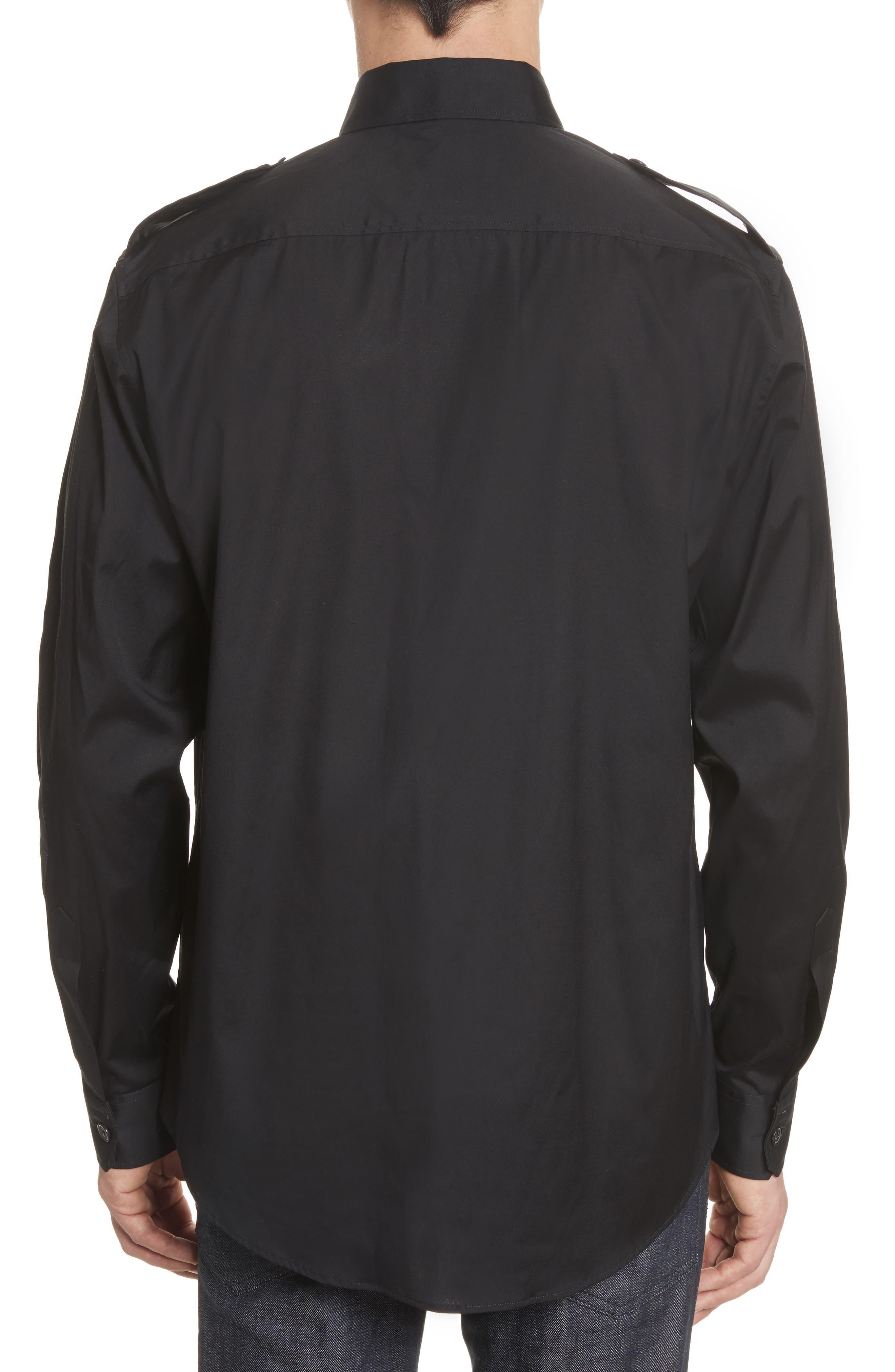 Military Shirt,                             Alternate thumbnail 3, color,                             Black