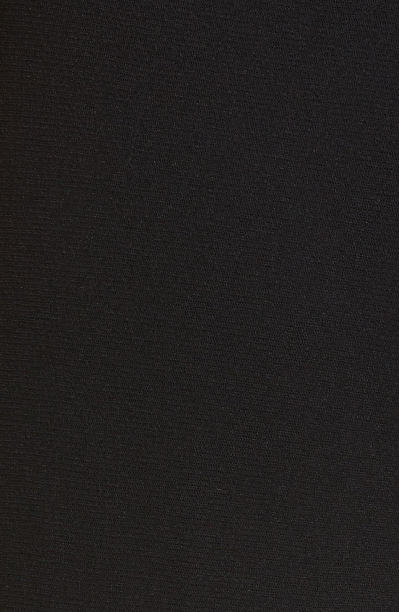 Plunging Halter Neck Jumpsuit,                             Alternate thumbnail 6, color,                             Nero