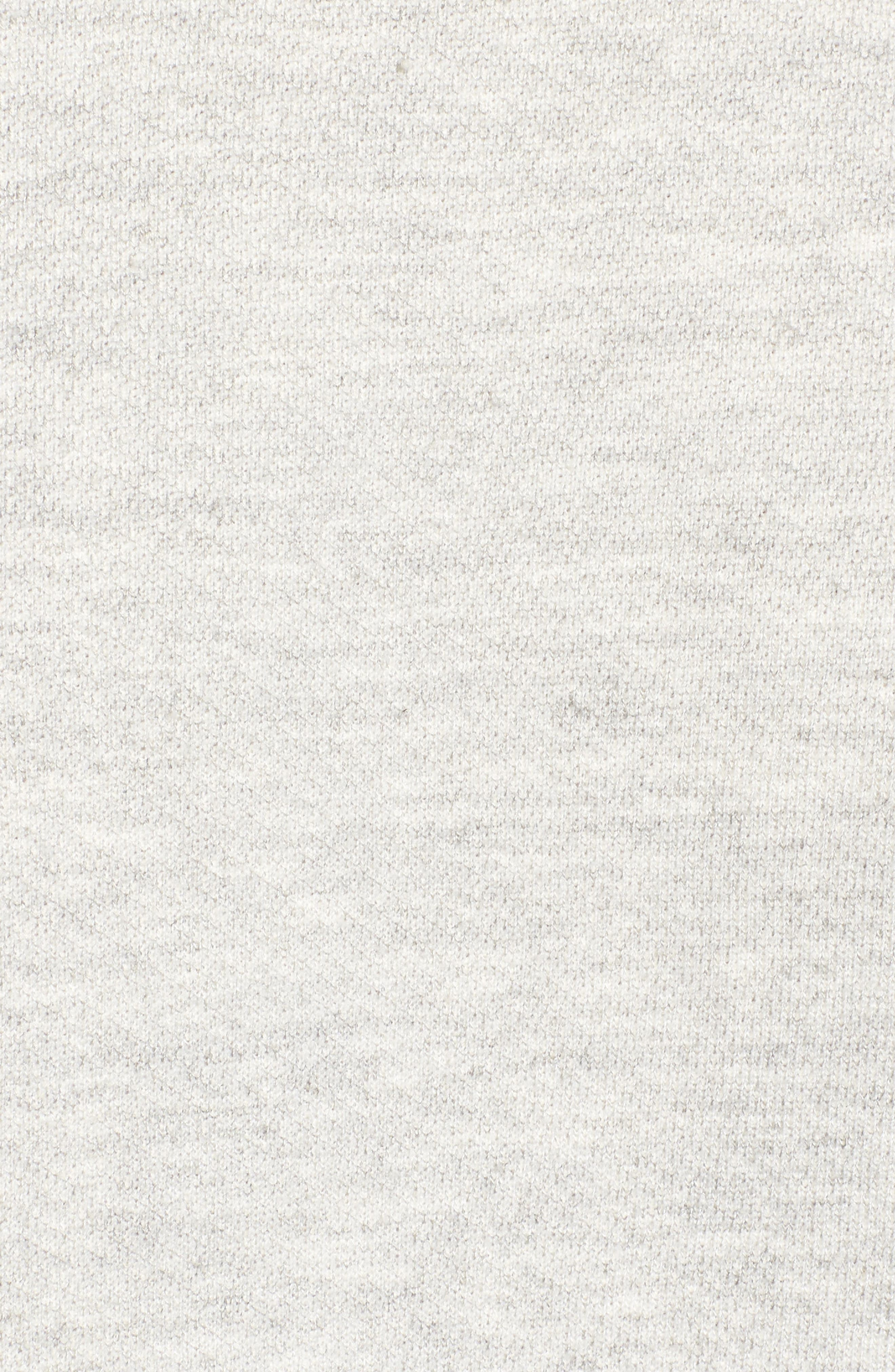 The Pleat Sweatshirt,                             Alternate thumbnail 5, color,                             Light Heather Grey Terry