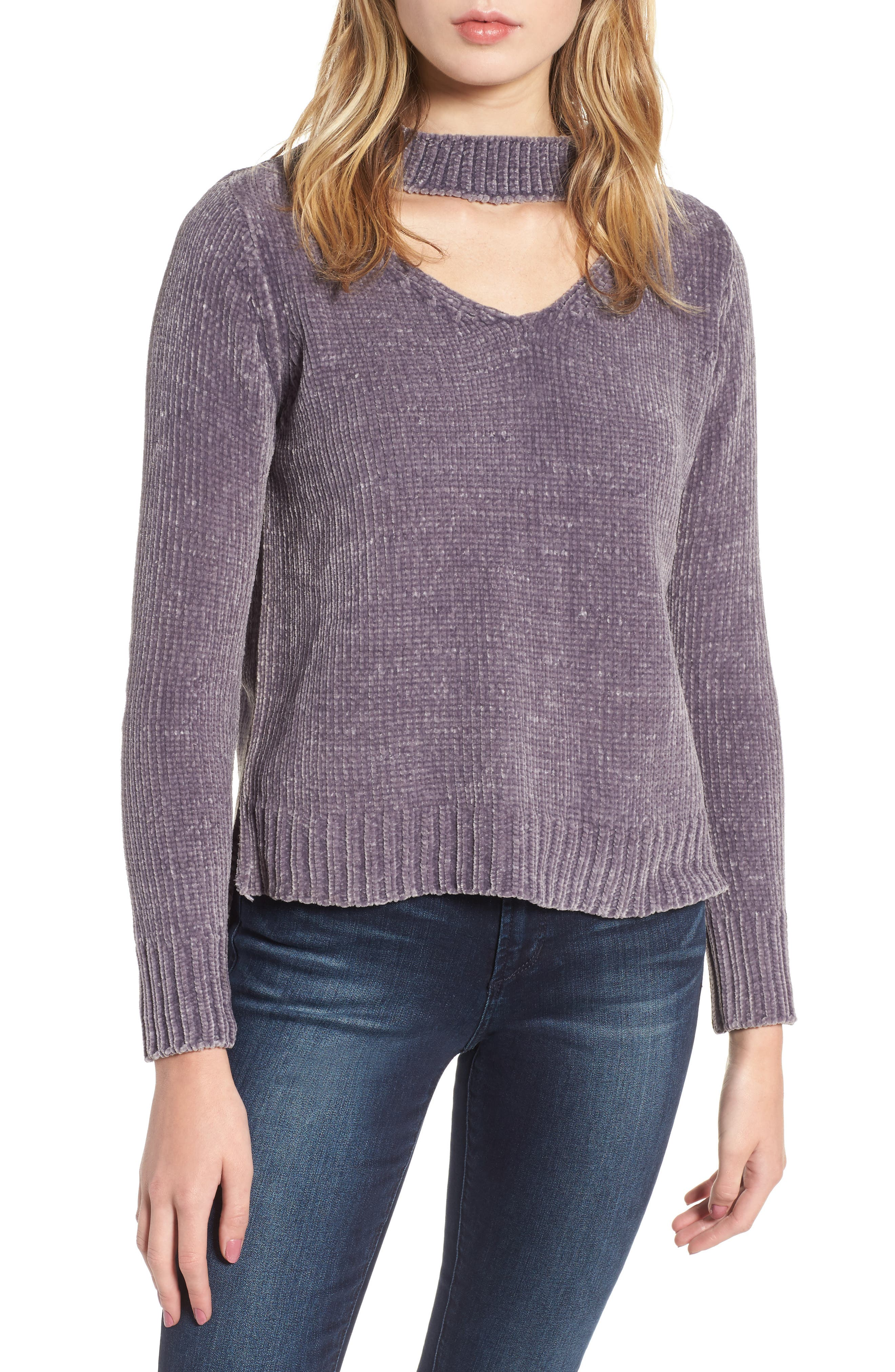 Love by Design Chenille Choker Neck Sweater