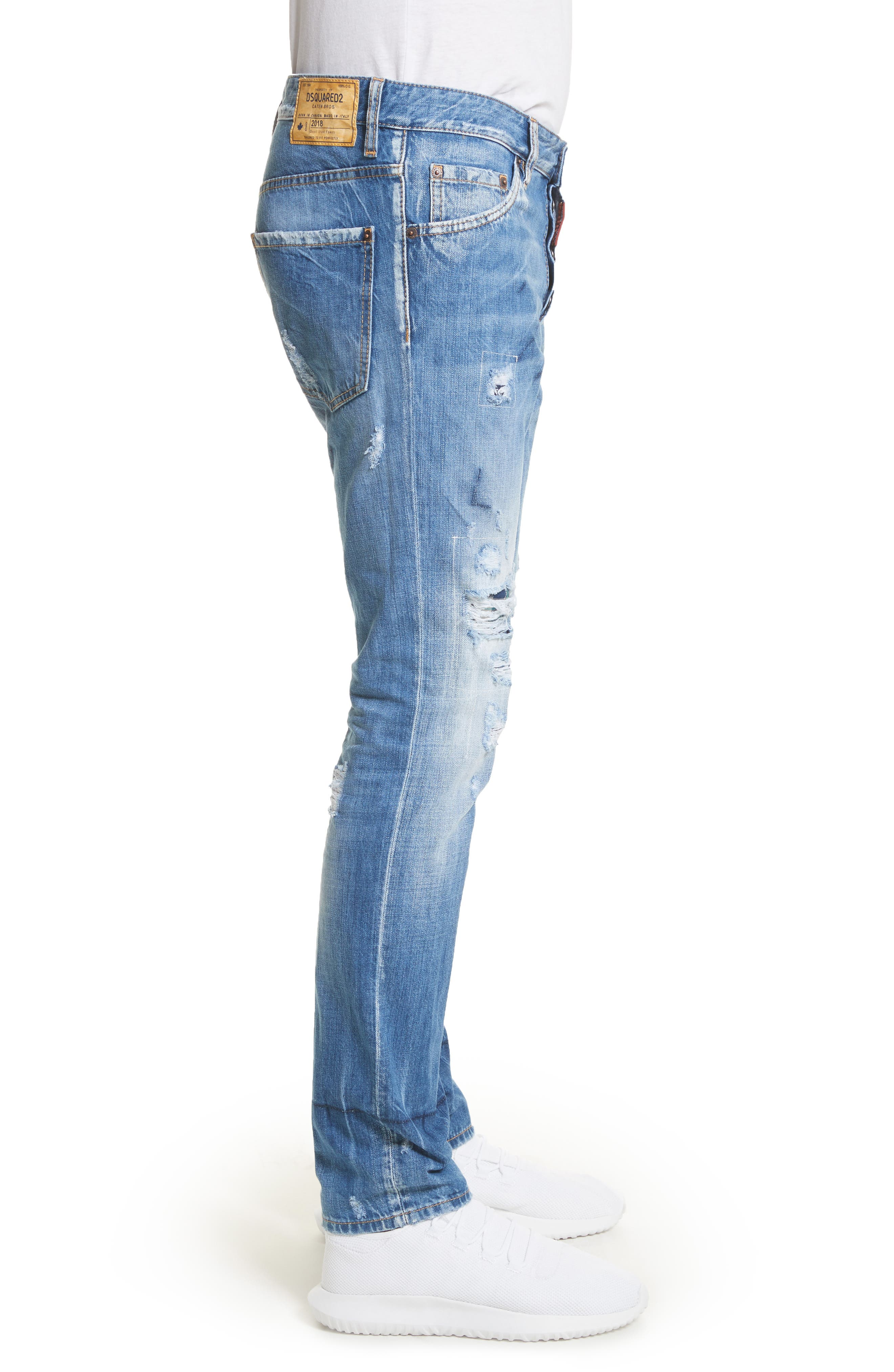 Cool Guy Skinny Fit Jeans,                             Alternate thumbnail 3, color,                             Navy/Blue