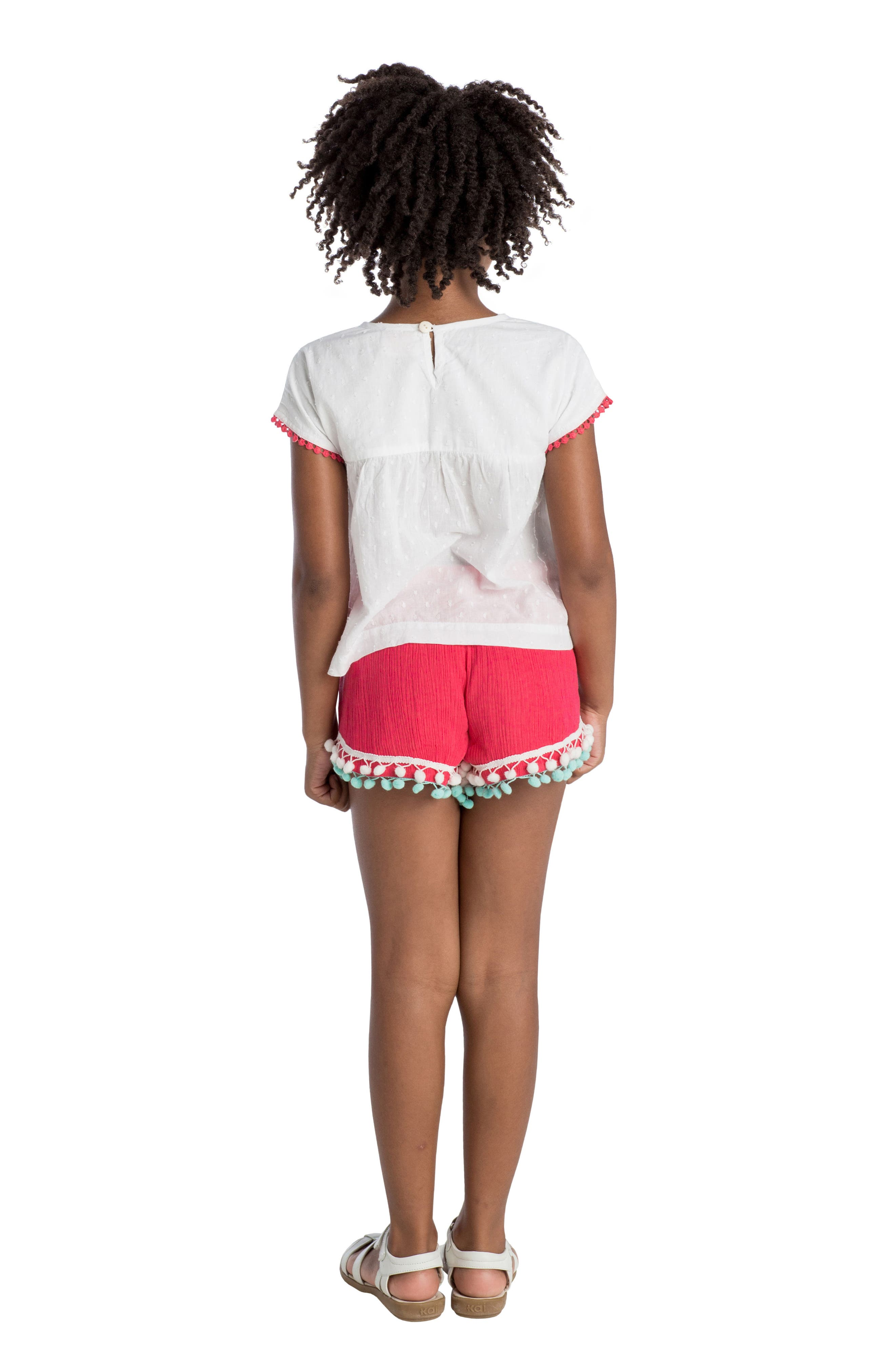 Alternate Image 3  - Masalababy Pompom Shorts (Toddler Girls, Little Girls & Big Girls)