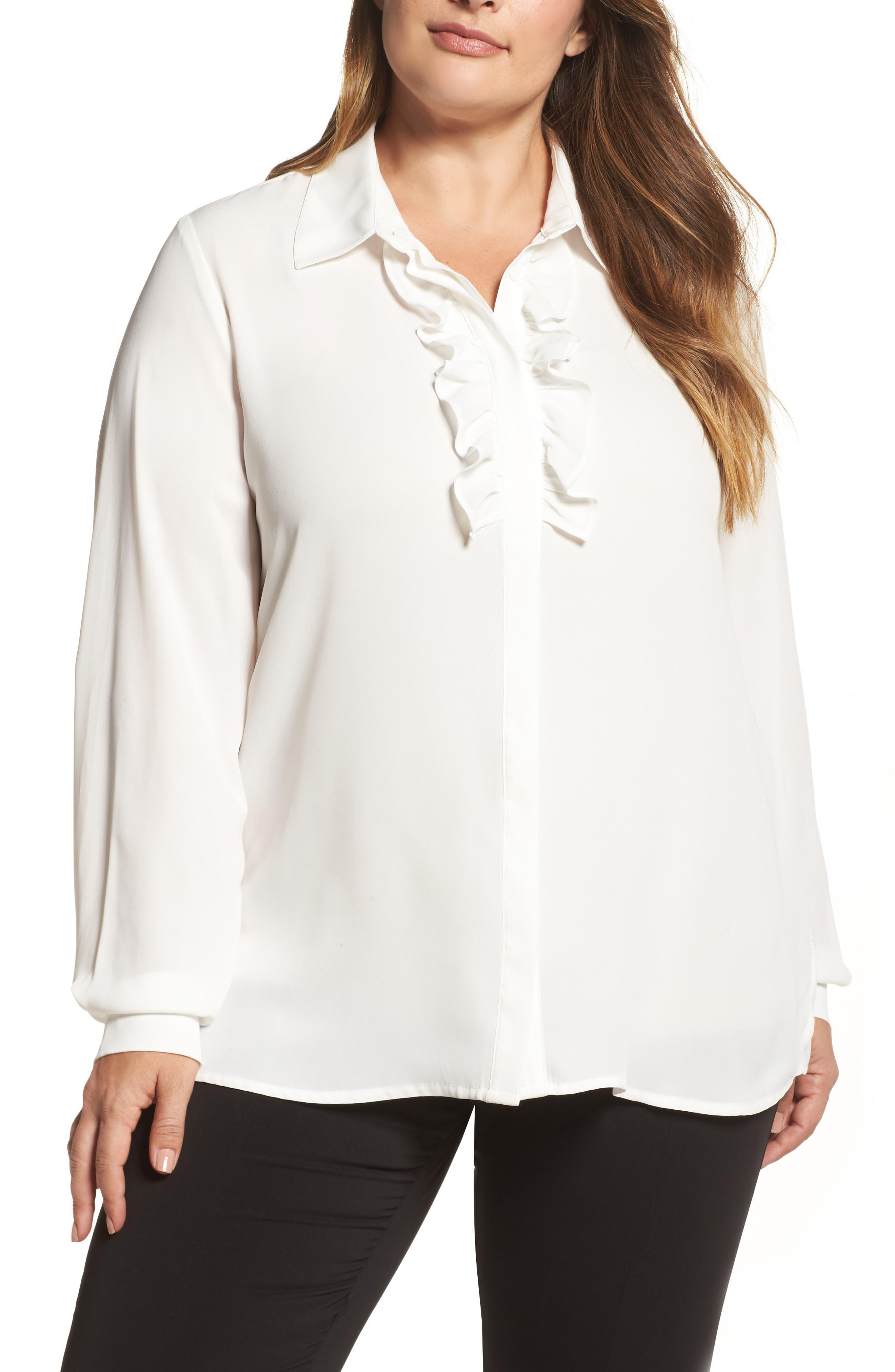 Fase Ruffle Blouse,                         Main,                         color, White