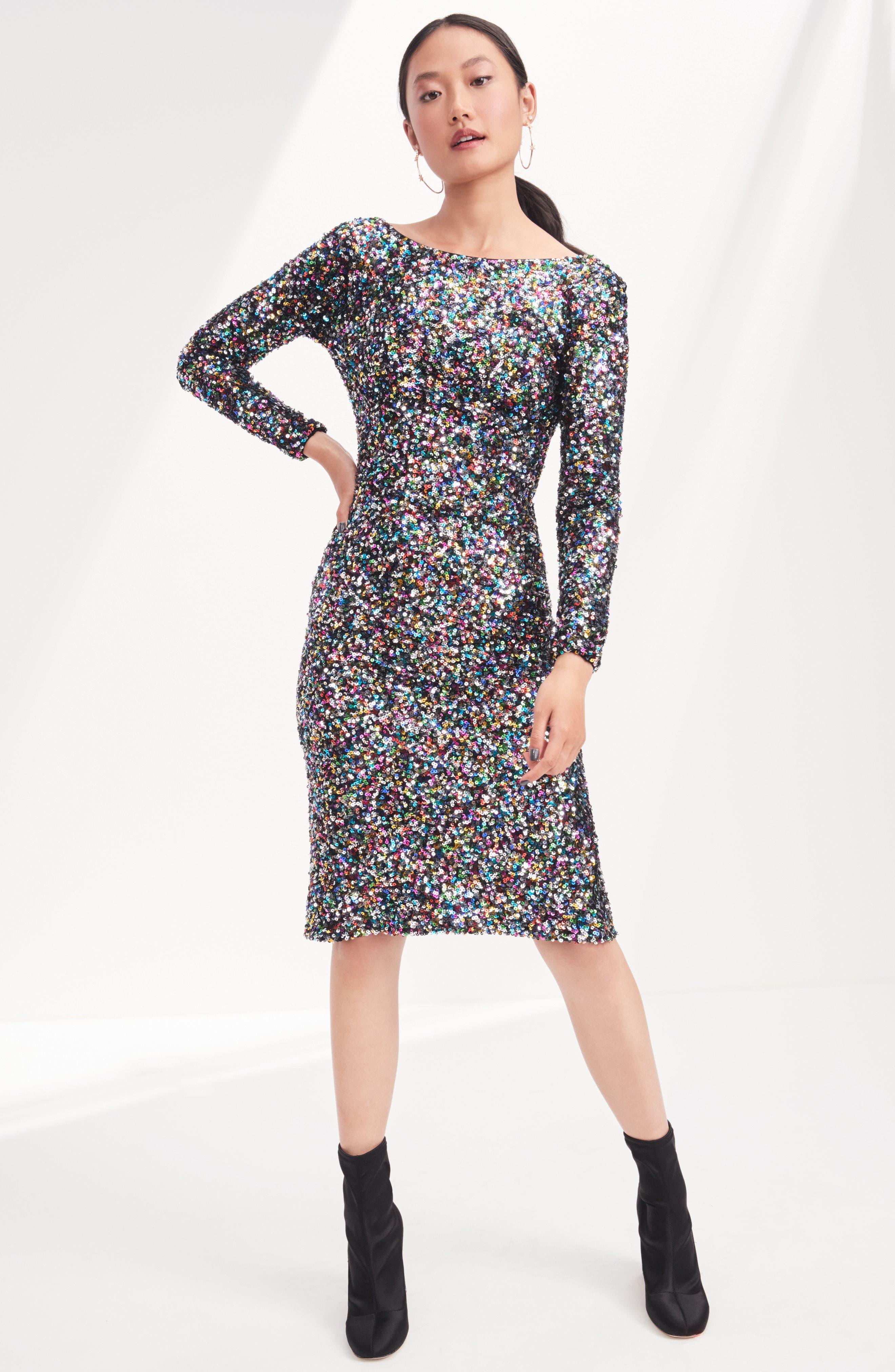 Alternate Image 2  - Dress the Population Emery Ombré Sequin Body-Con Dress