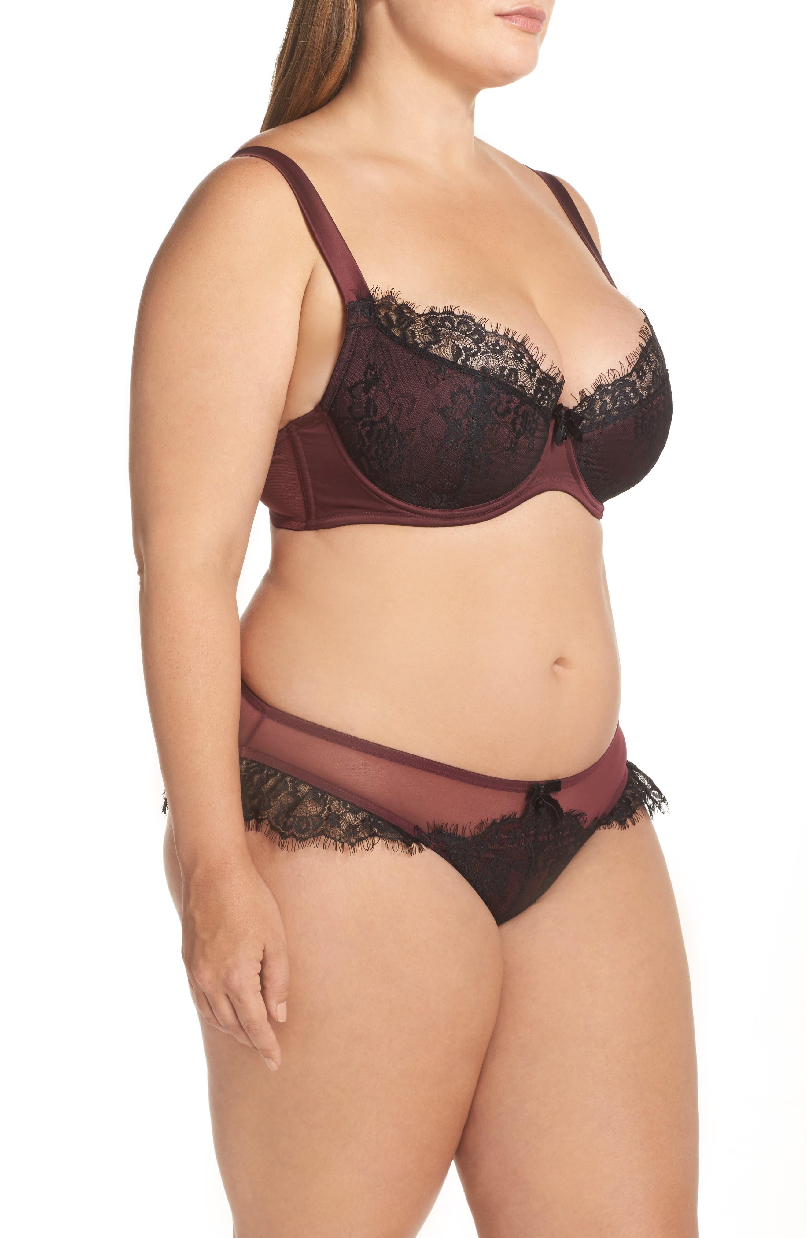 Alternate Image 8  - Playful Promises Karine Curve Underwire Bra (Plus Size)