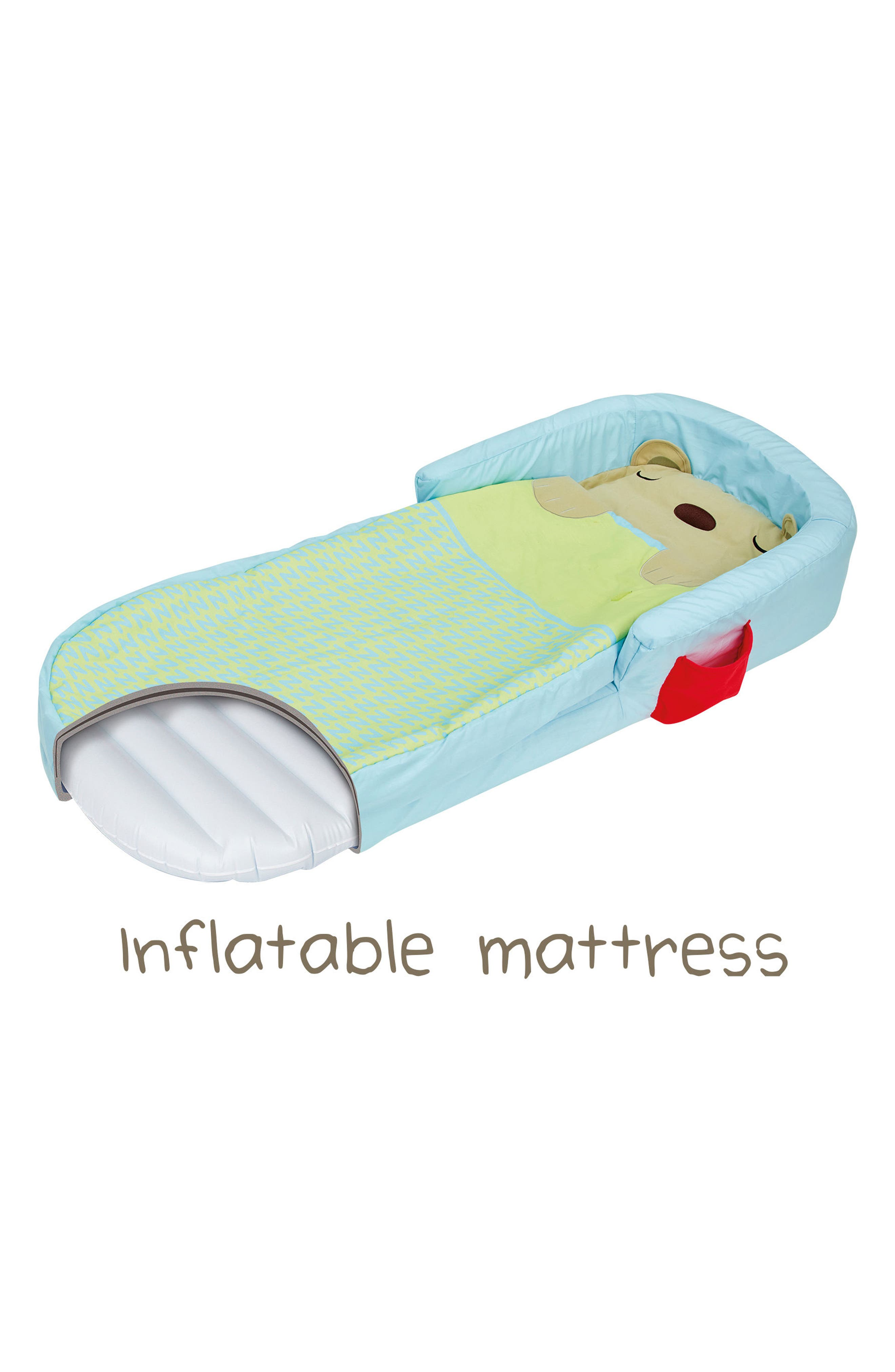 Bear Hug My First Ready Bed Inflatable Bed & Cover Set,                             Alternate thumbnail 5, color,                             Blue