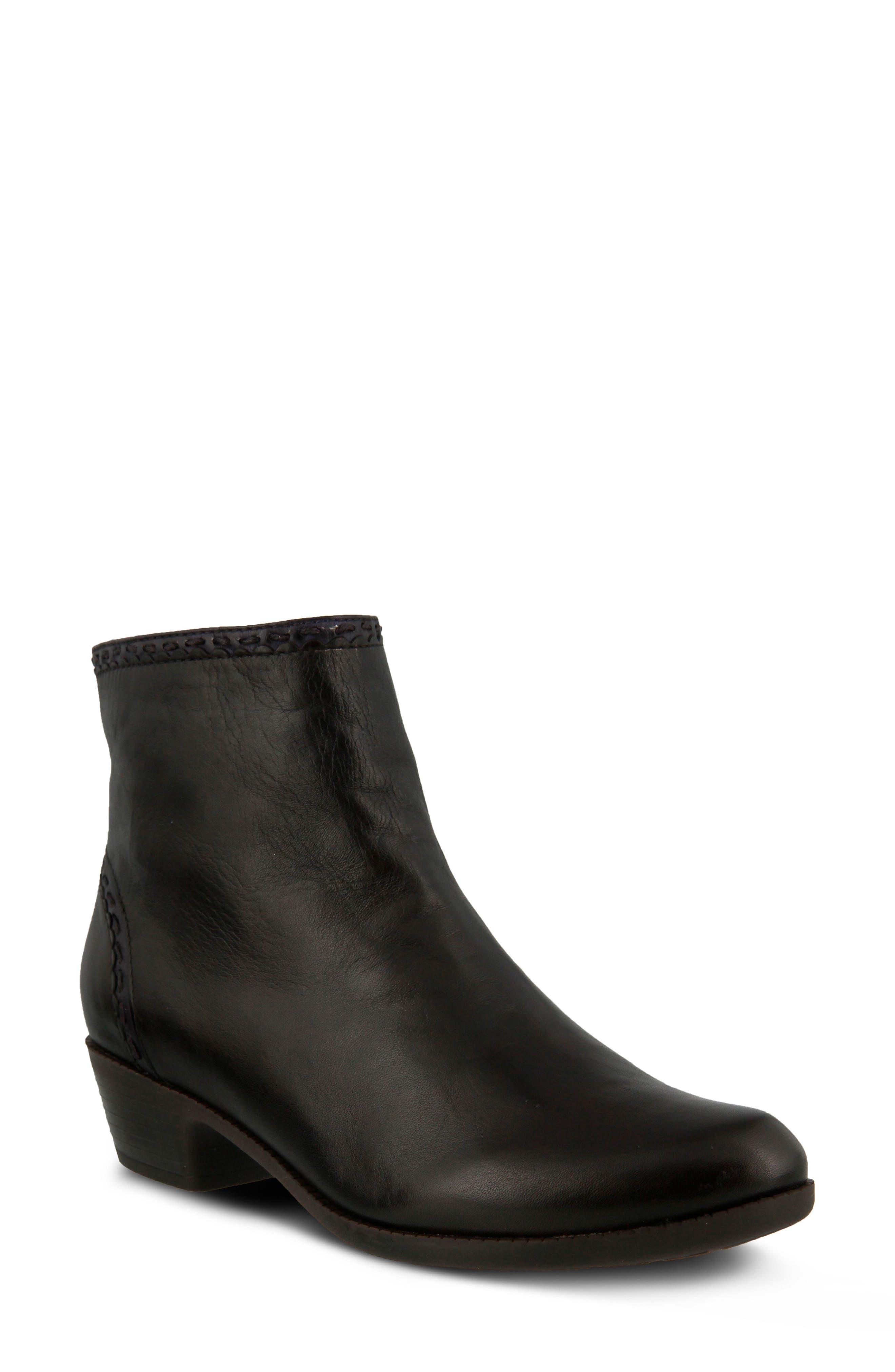 Micaela Bootie,                         Main,                         color, Dark Brown Leather
