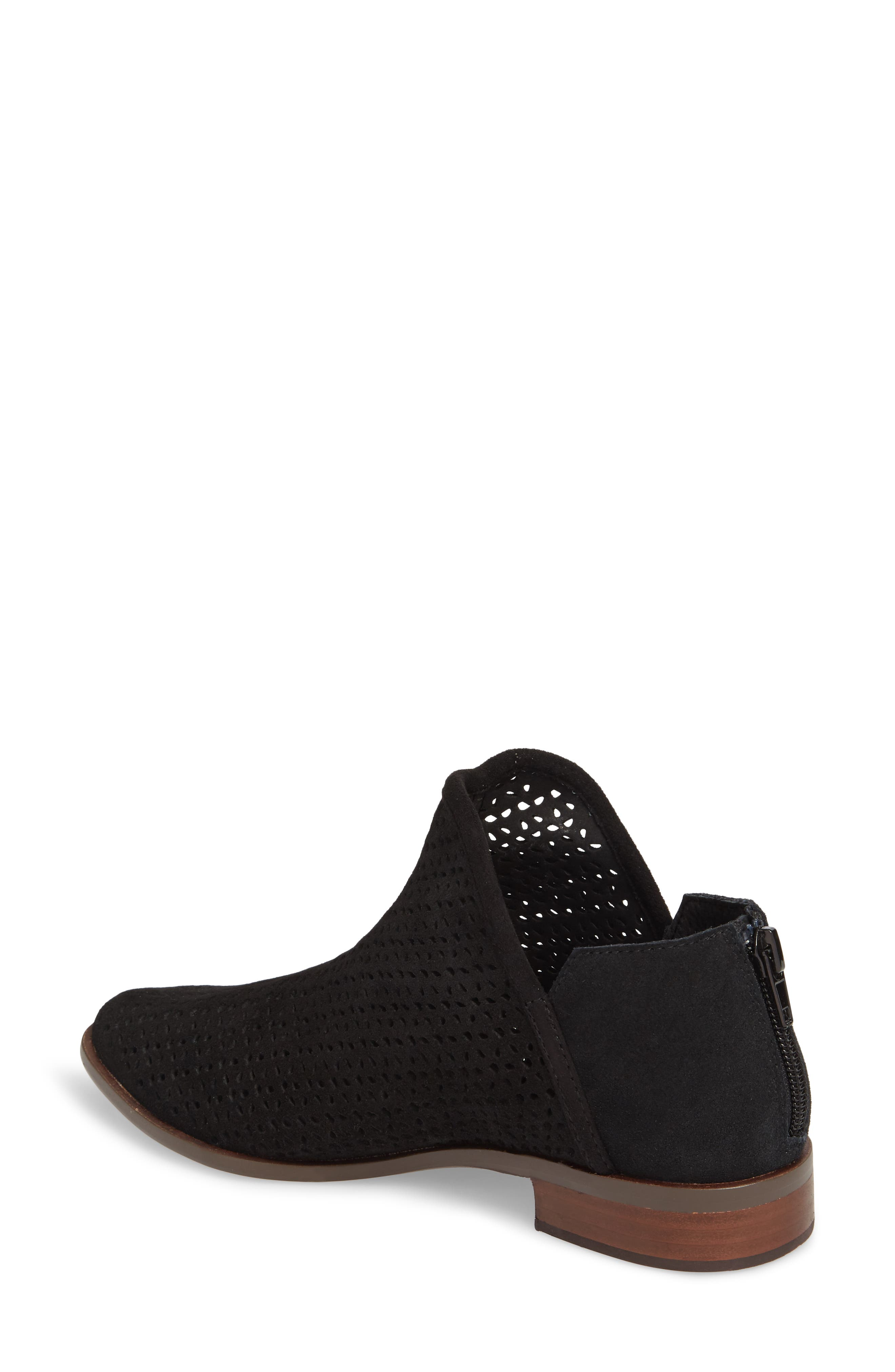 Alley Perforated Bootie,                             Alternate thumbnail 2, color,                             Black