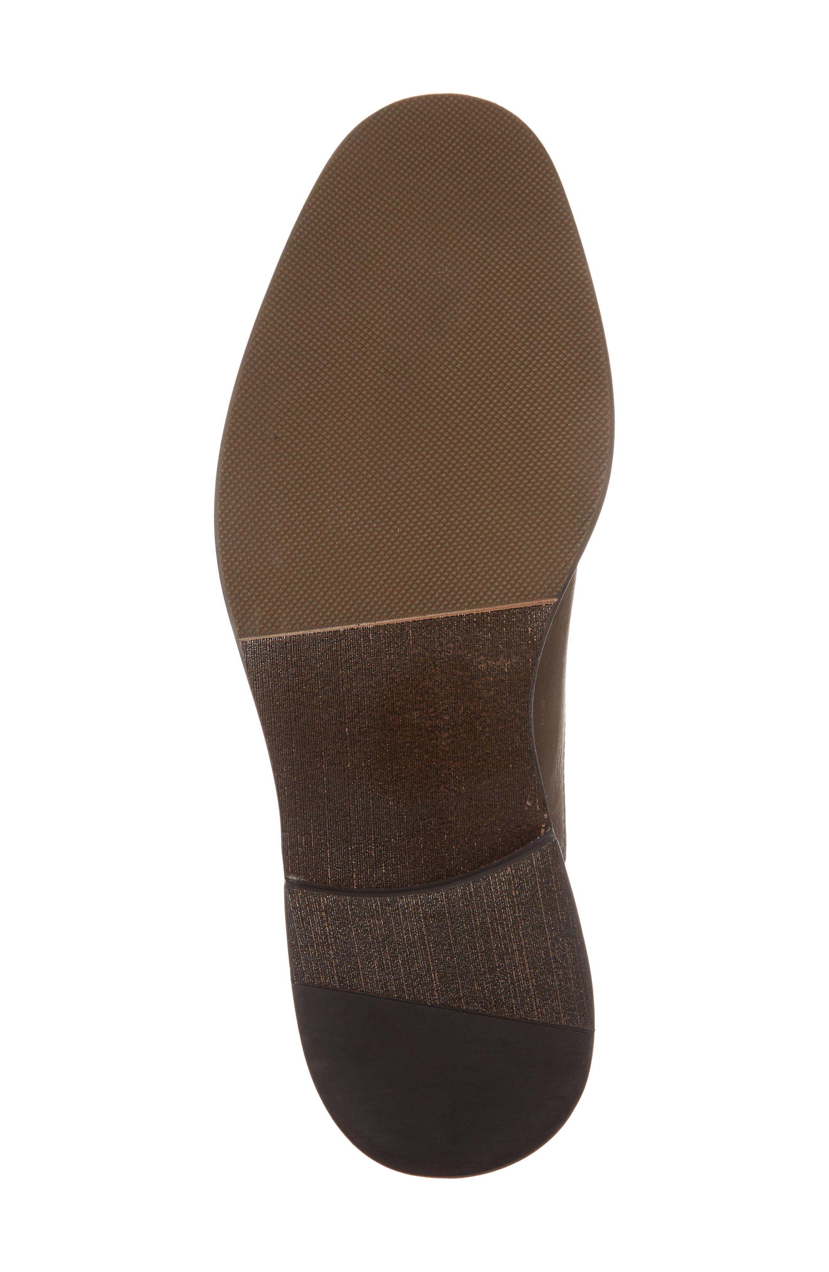 Odessa Cap Toe Oxford,                             Alternate thumbnail 6, color,                             Chocolate Leather