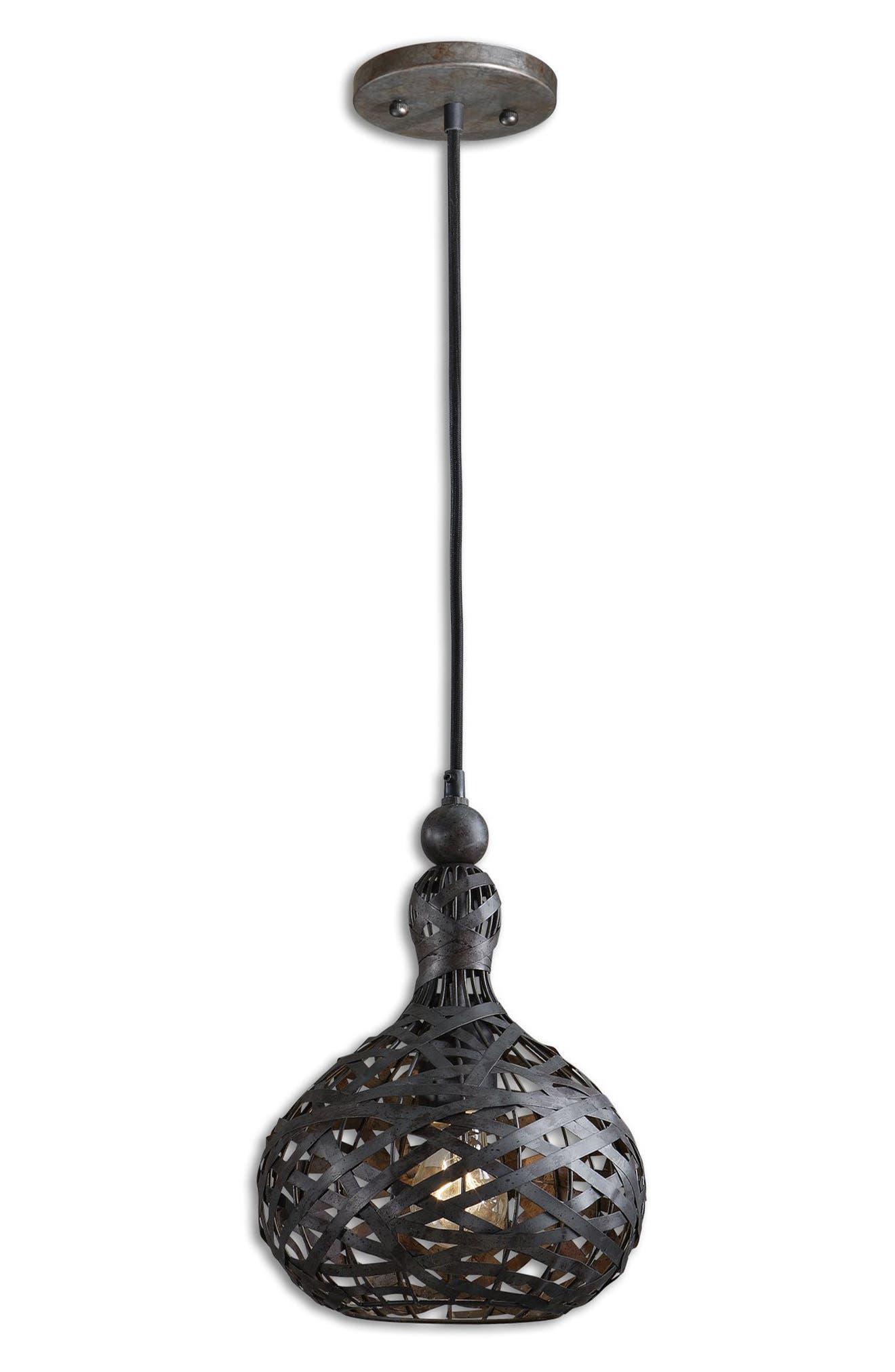 Alita Pendant Light,                         Main,                         color, Black