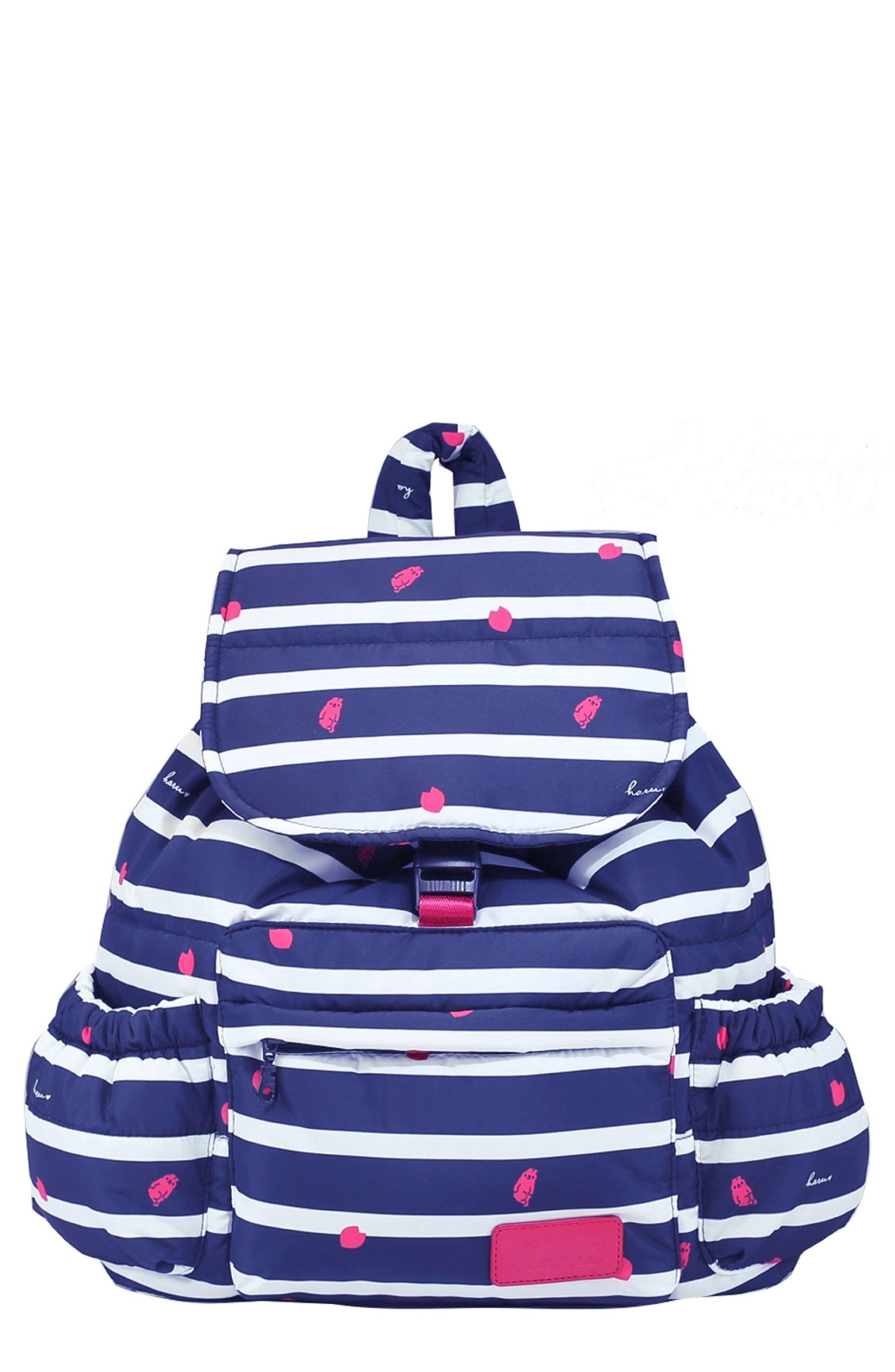 Alternate Image 1 Selected - HARU Print Water-Repellent Diaper Backpack