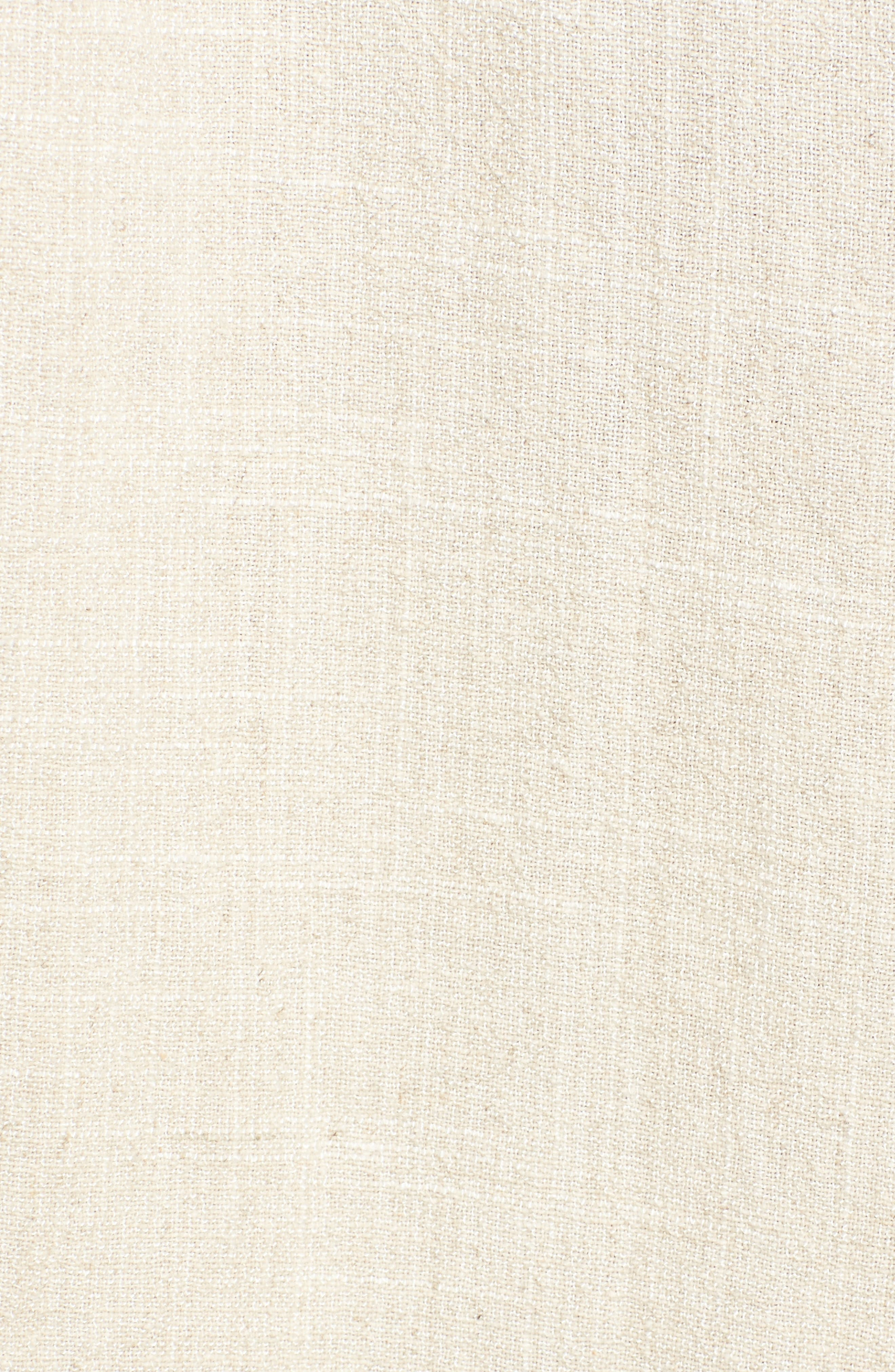 Button Up Drawstring Midi Dress,                             Alternate thumbnail 6, color,                             Natural