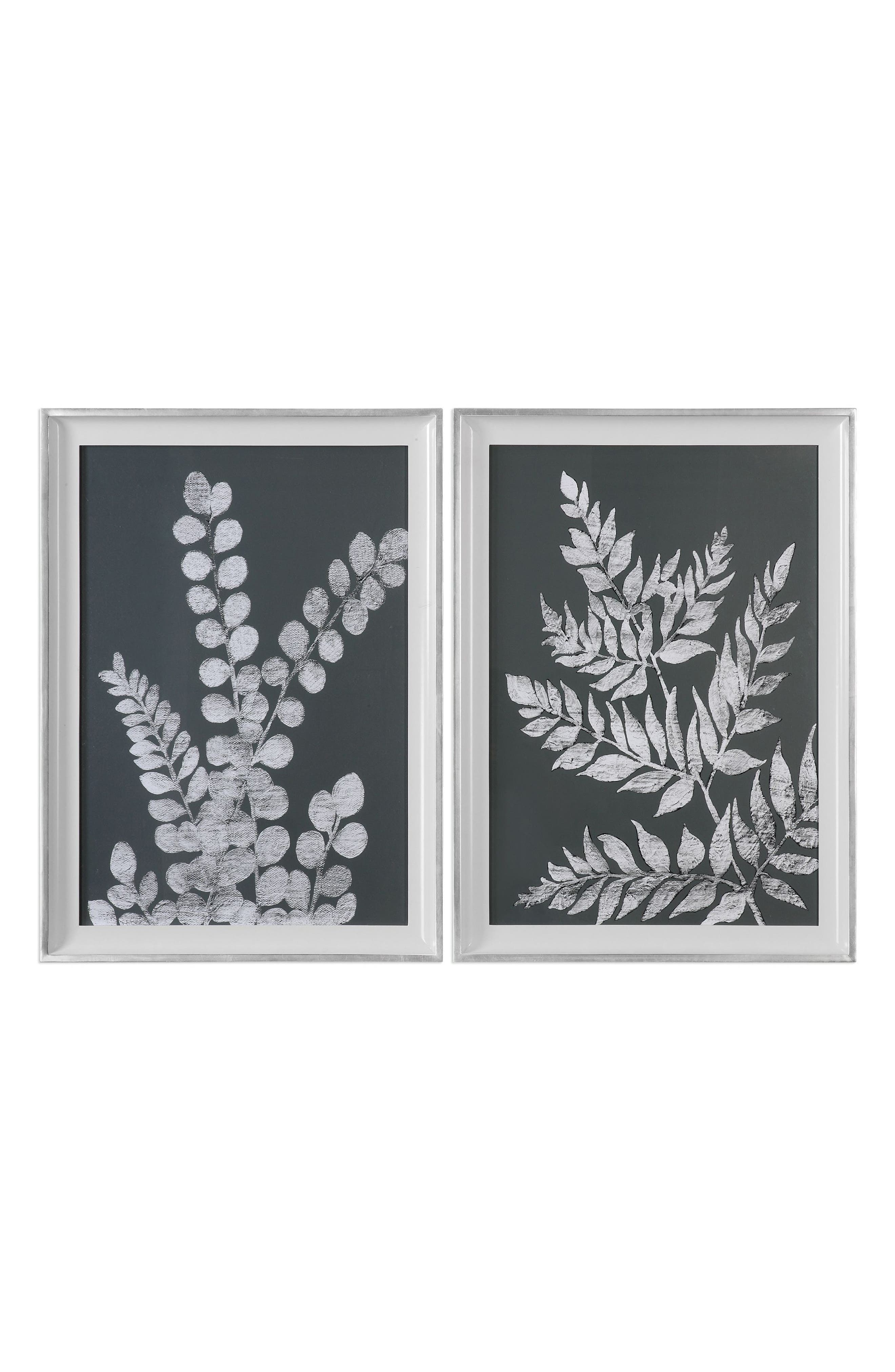 Alternate Image 1 Selected - Uttermost White Ferns 2-Piece Wall Art Set