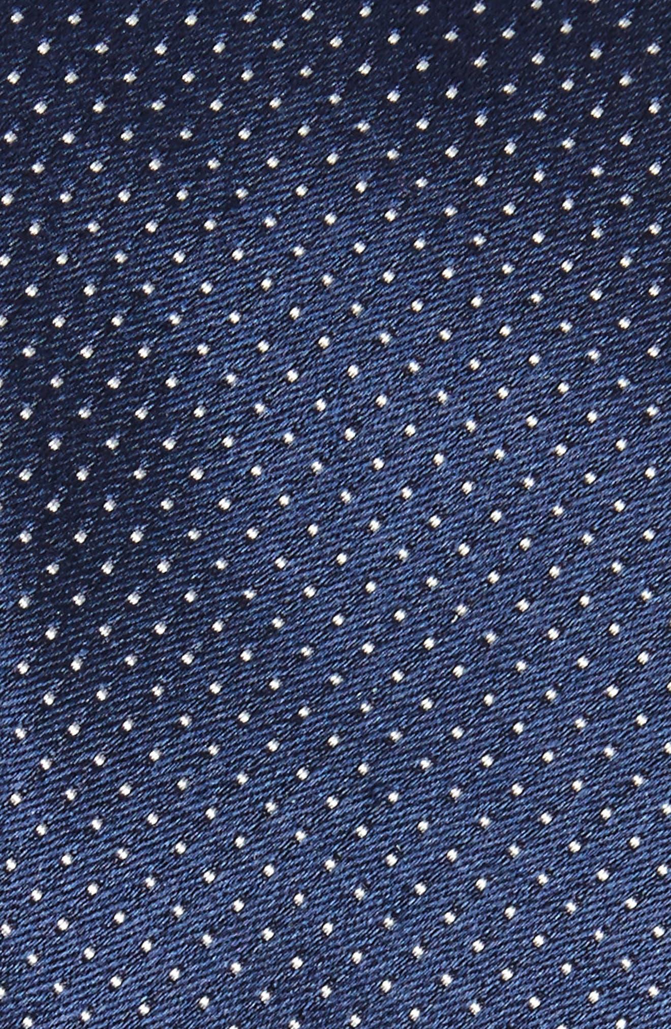 Dot Silk Skinny Tie,                             Alternate thumbnail 2, color,                             Navy