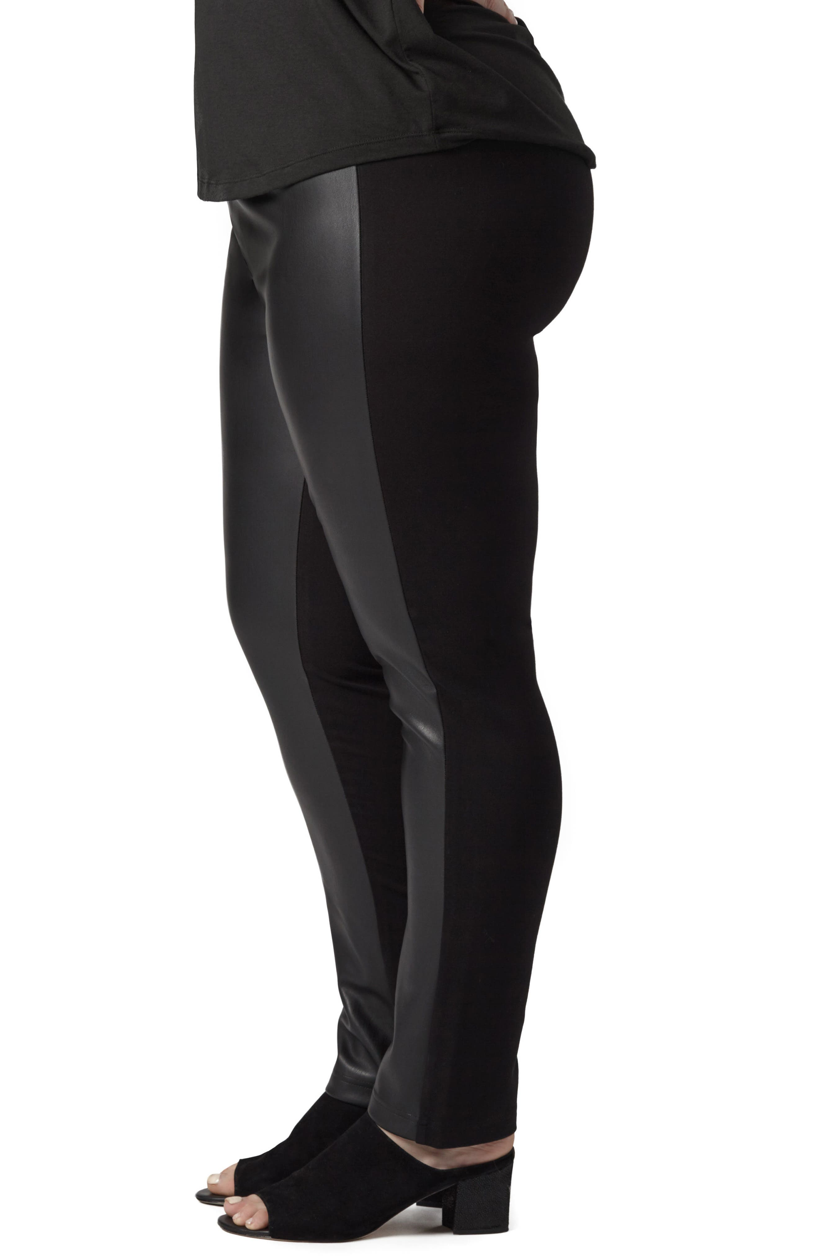 Alternate Image 3  - UNIVERSAL STANDARD Potenza Faux Leather Pants (Plus Size)