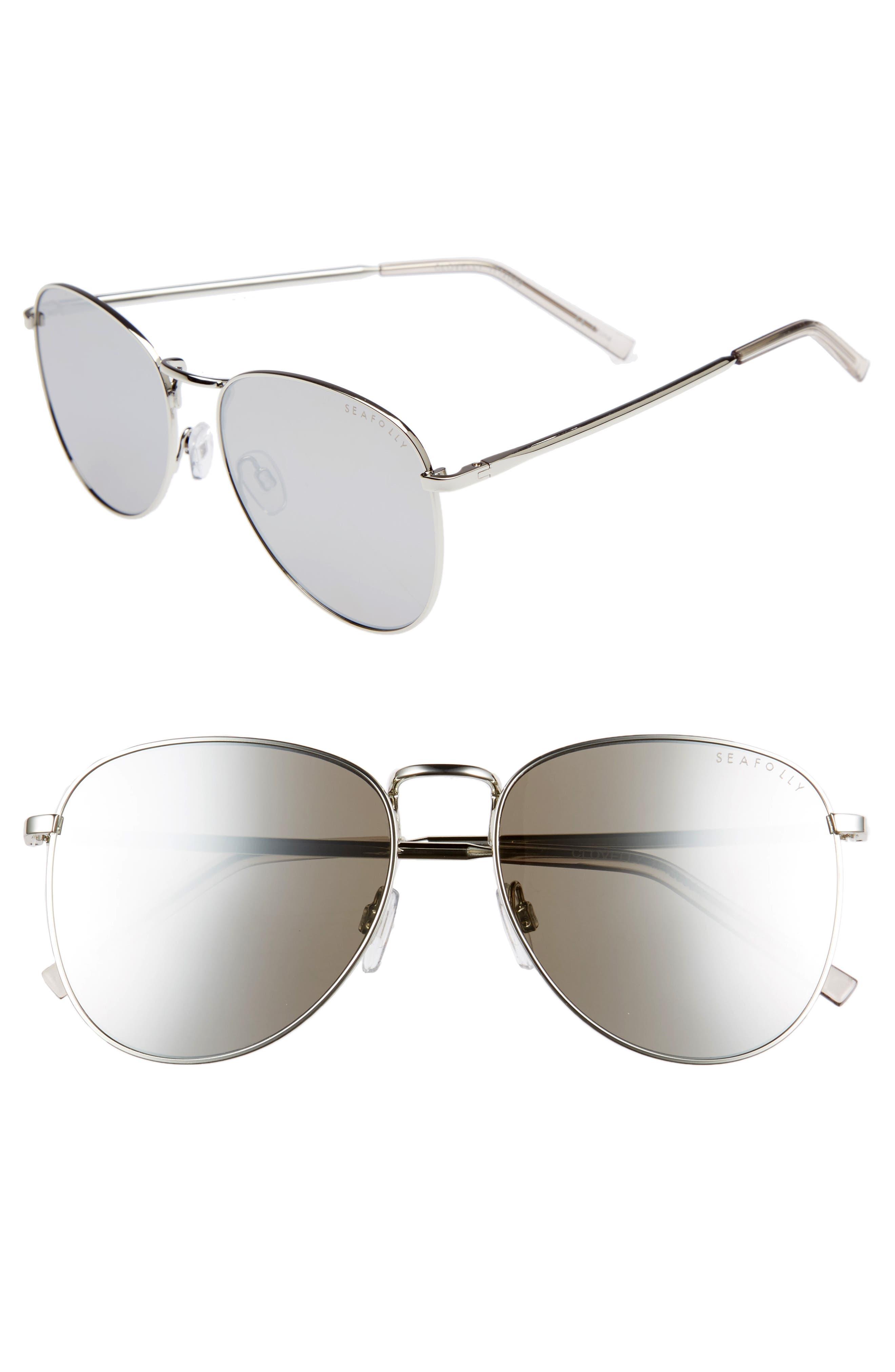 Clovelly 56mm Metal Sunglasses,                             Main thumbnail 1, color,                             Sand