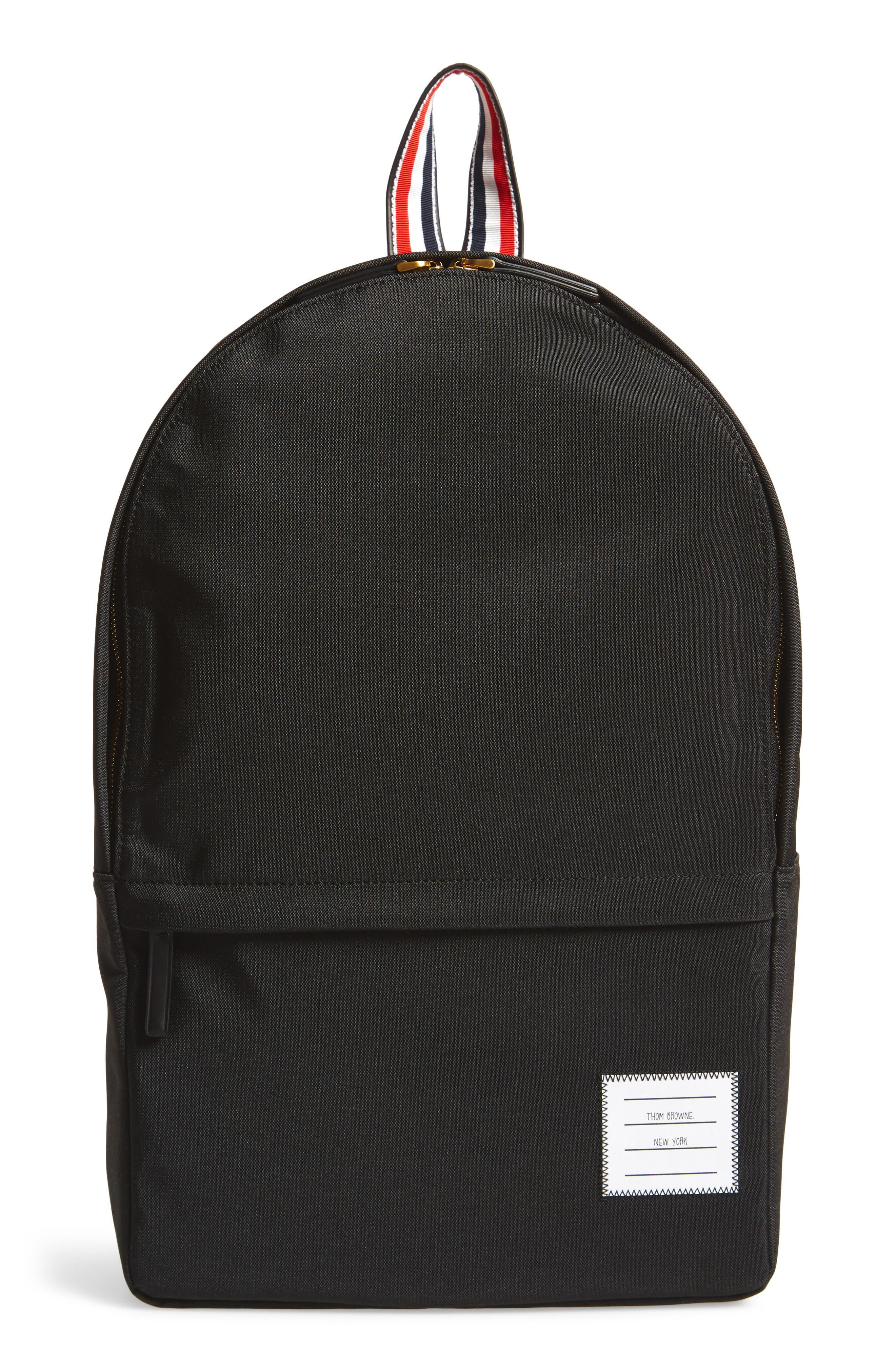 Nylon Backpack,                         Main,                         color, Black