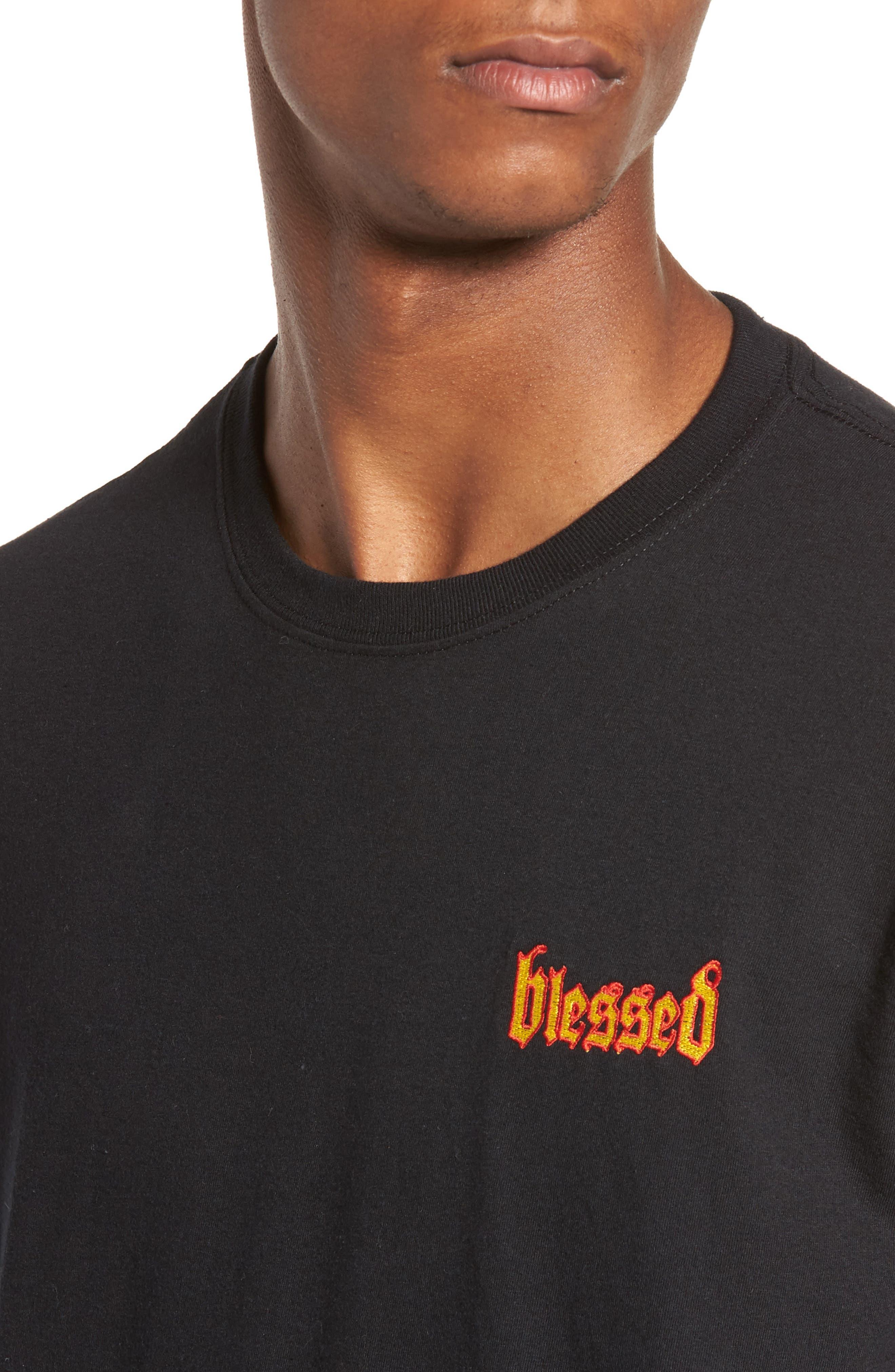 Blessed T-Shirt,                             Alternate thumbnail 4, color,                             Black Blessed