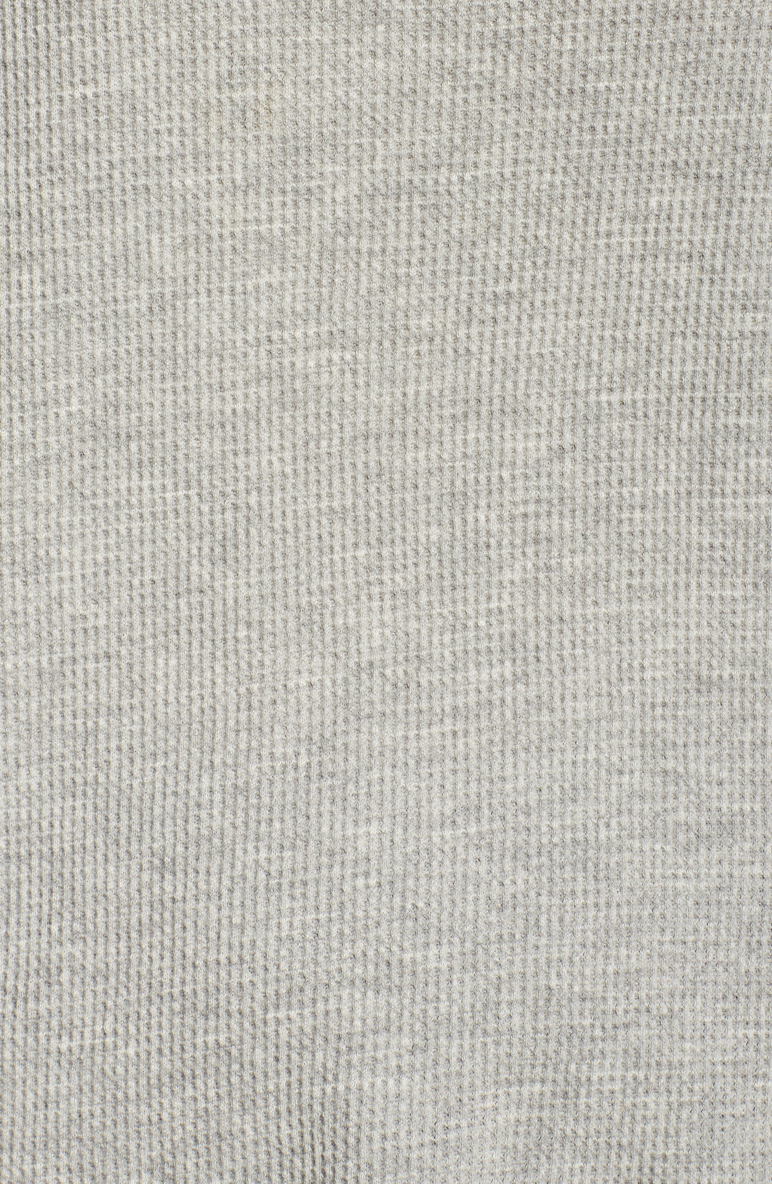 Imo Thermal Knit Tee,                             Alternate thumbnail 6, color,                             Heather Grey