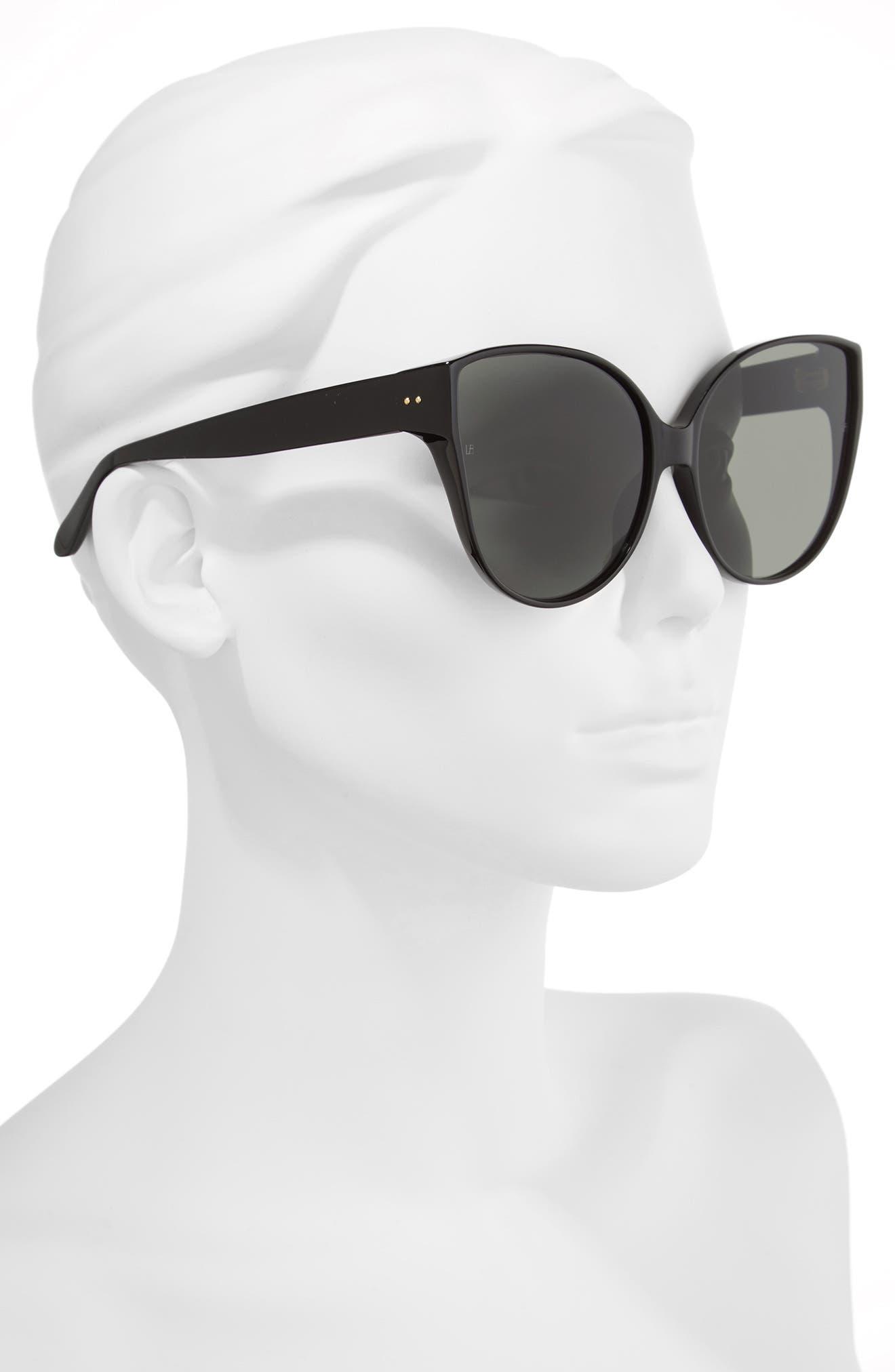Alternate Image 2  - Linda Farrow 62mm Oversize Cat Eye Sunglasses