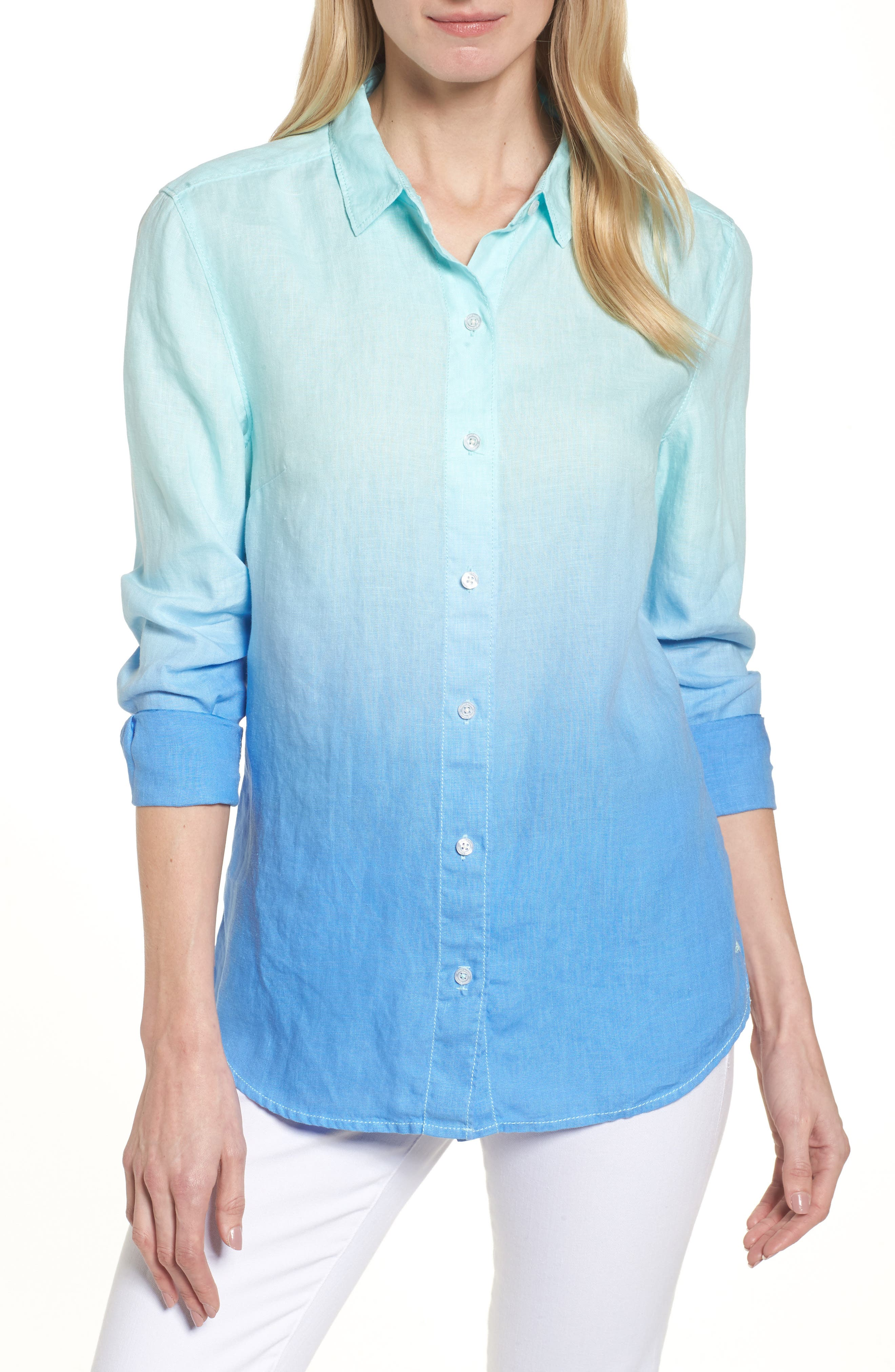 Alternate Image 1 Selected - Tommy Bahama Two Palms Dip Dye Top