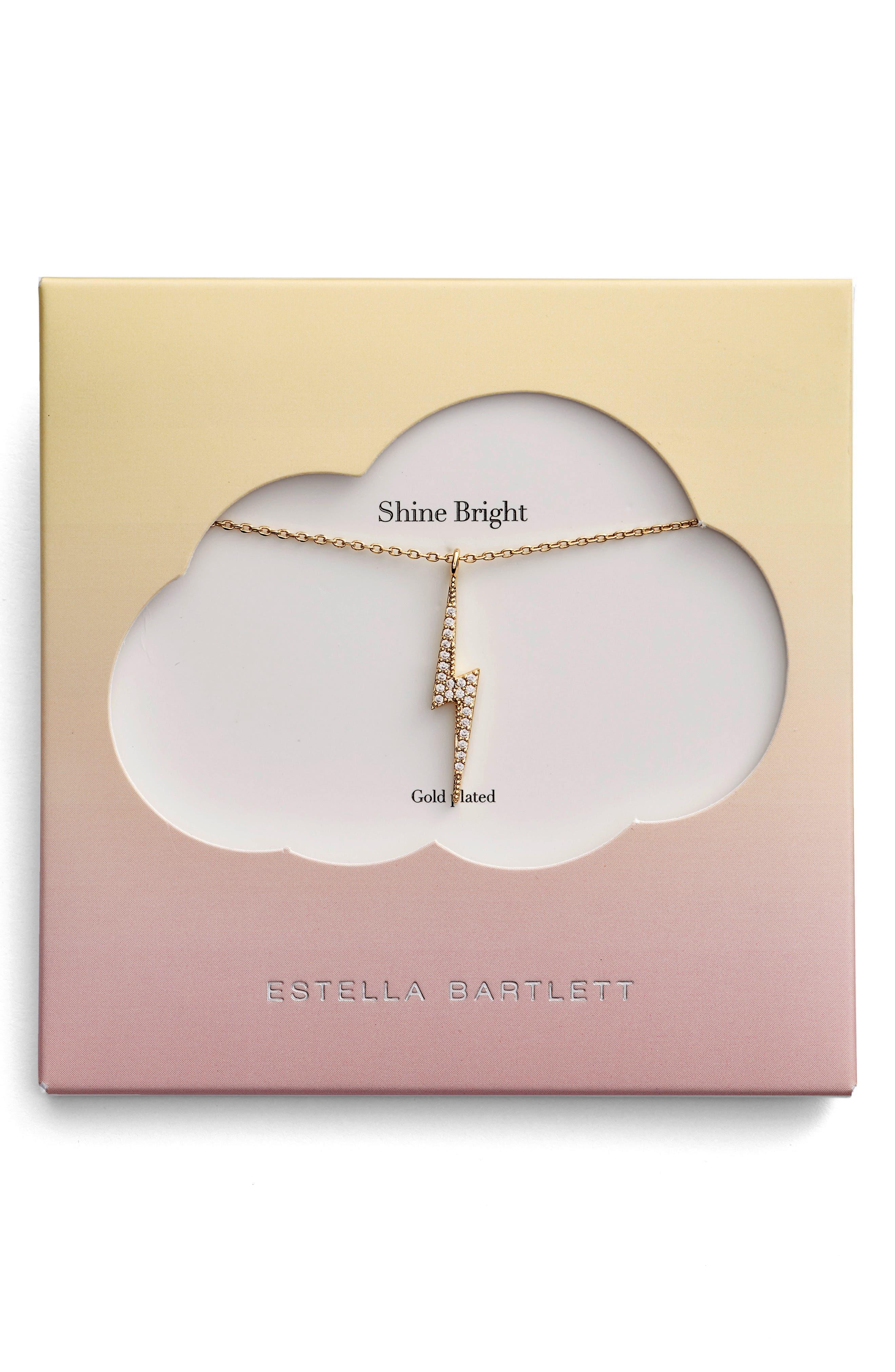 Main Image - Estella Bartlett Shine Bright Lightening Bolt Necklace